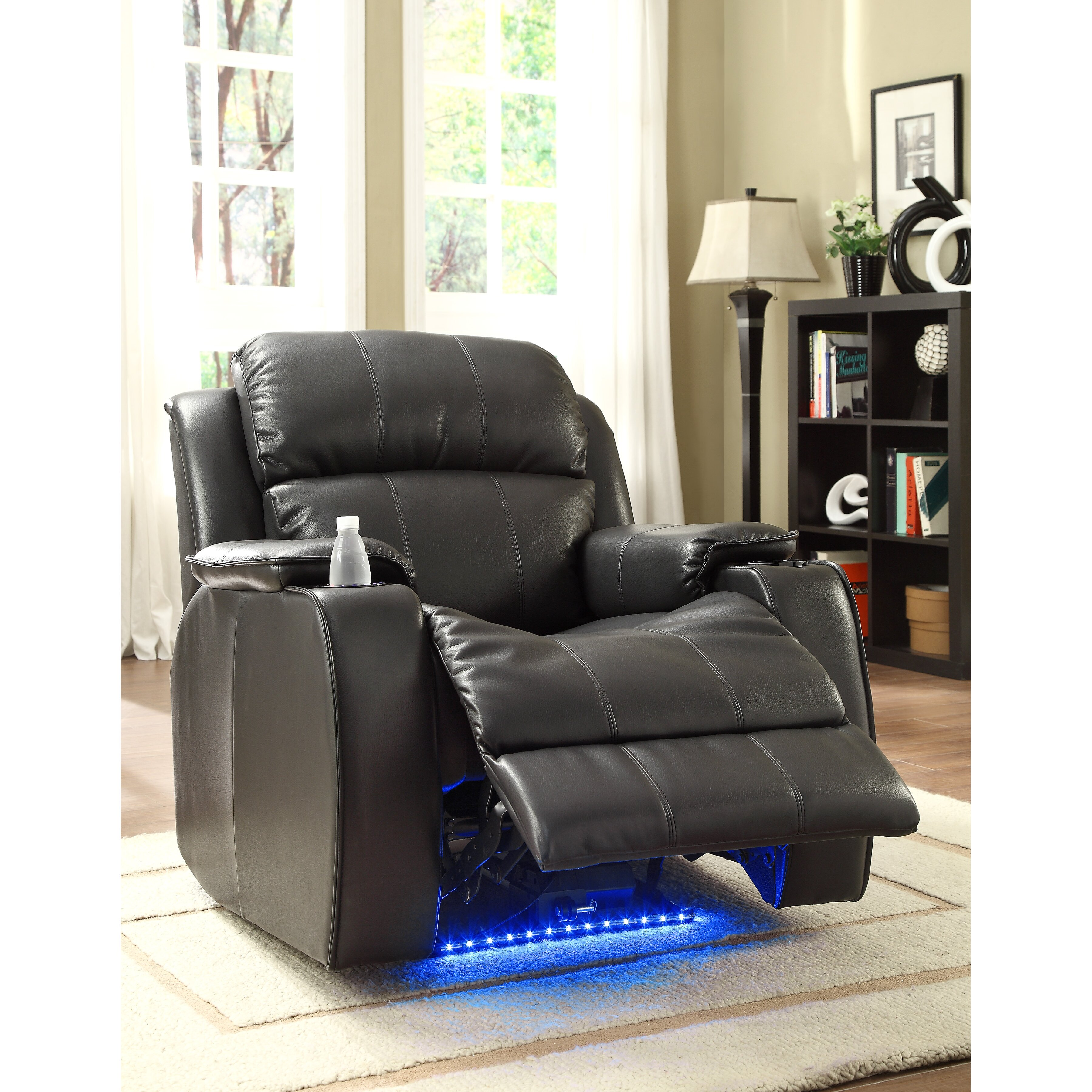 Jimmy Power With Massage Led And Cup Holder Recliner