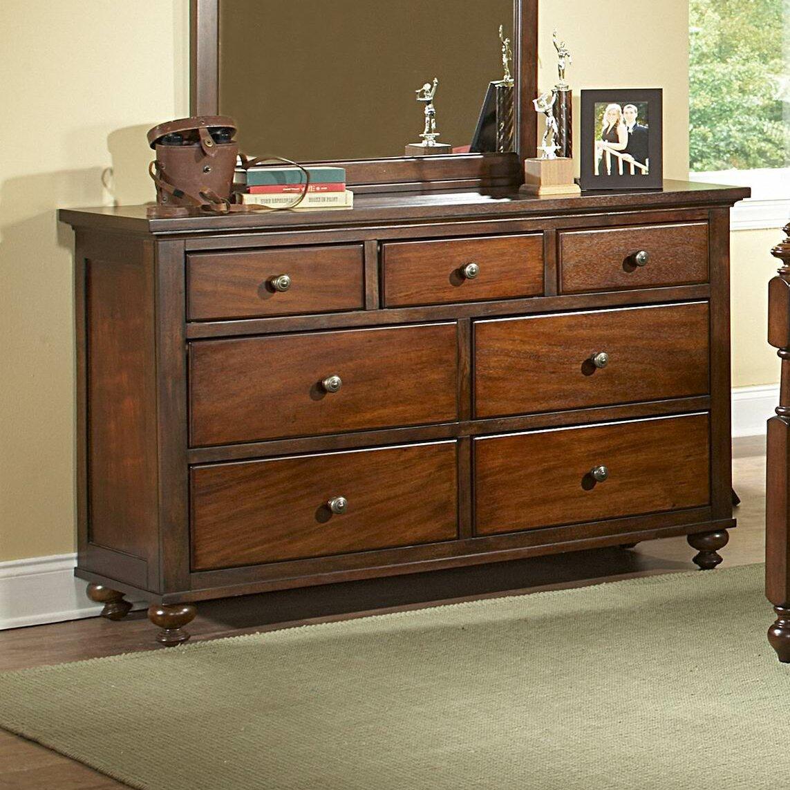 aris 7 drawer dresser wayfair. Black Bedroom Furniture Sets. Home Design Ideas