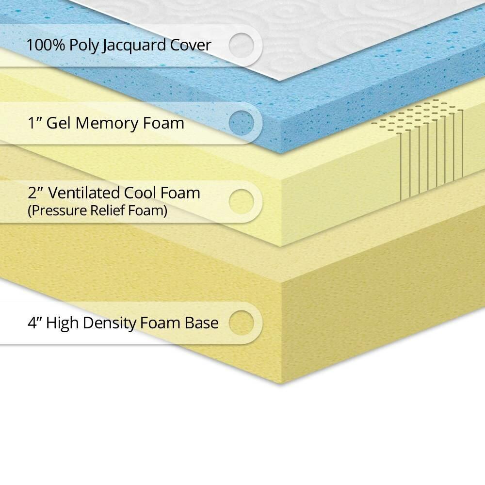 "Best Price Quality 7"" Gel Memory Foam Mattress"