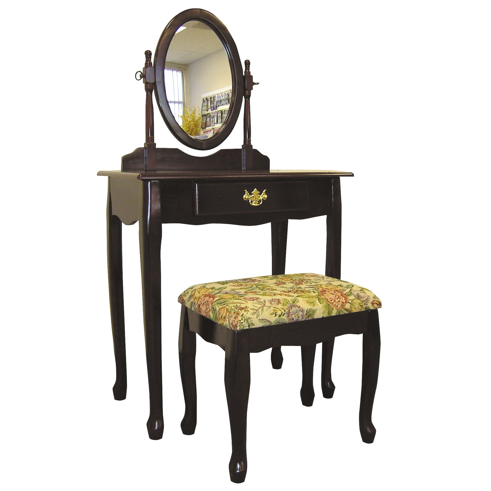 Ore furniture victoria vanity set with mirror reviews for Vanity mirror sets furniture