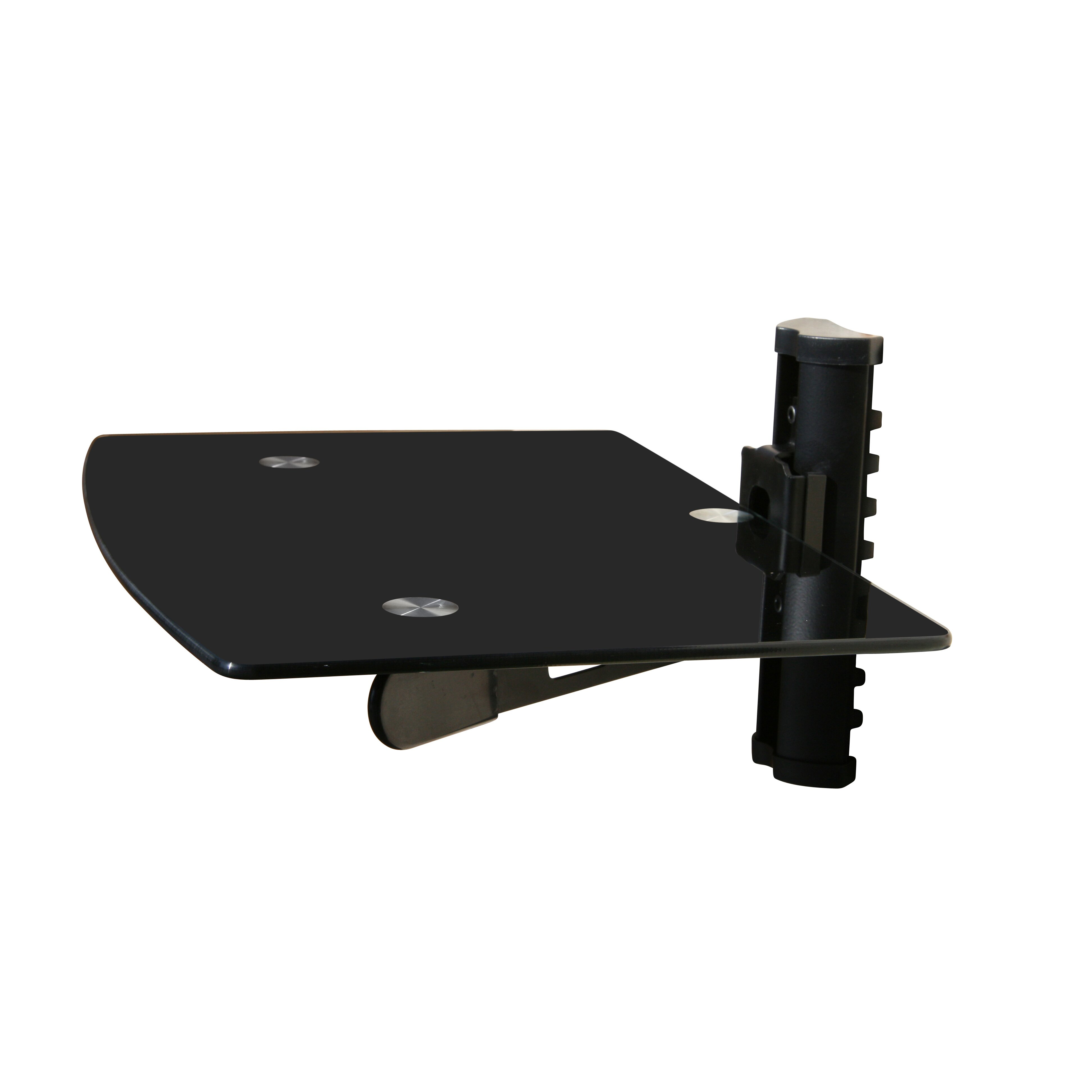 mount it wall mounted tv and component shelf combo dvd dvr vcr wall mount bracket reviews. Black Bedroom Furniture Sets. Home Design Ideas
