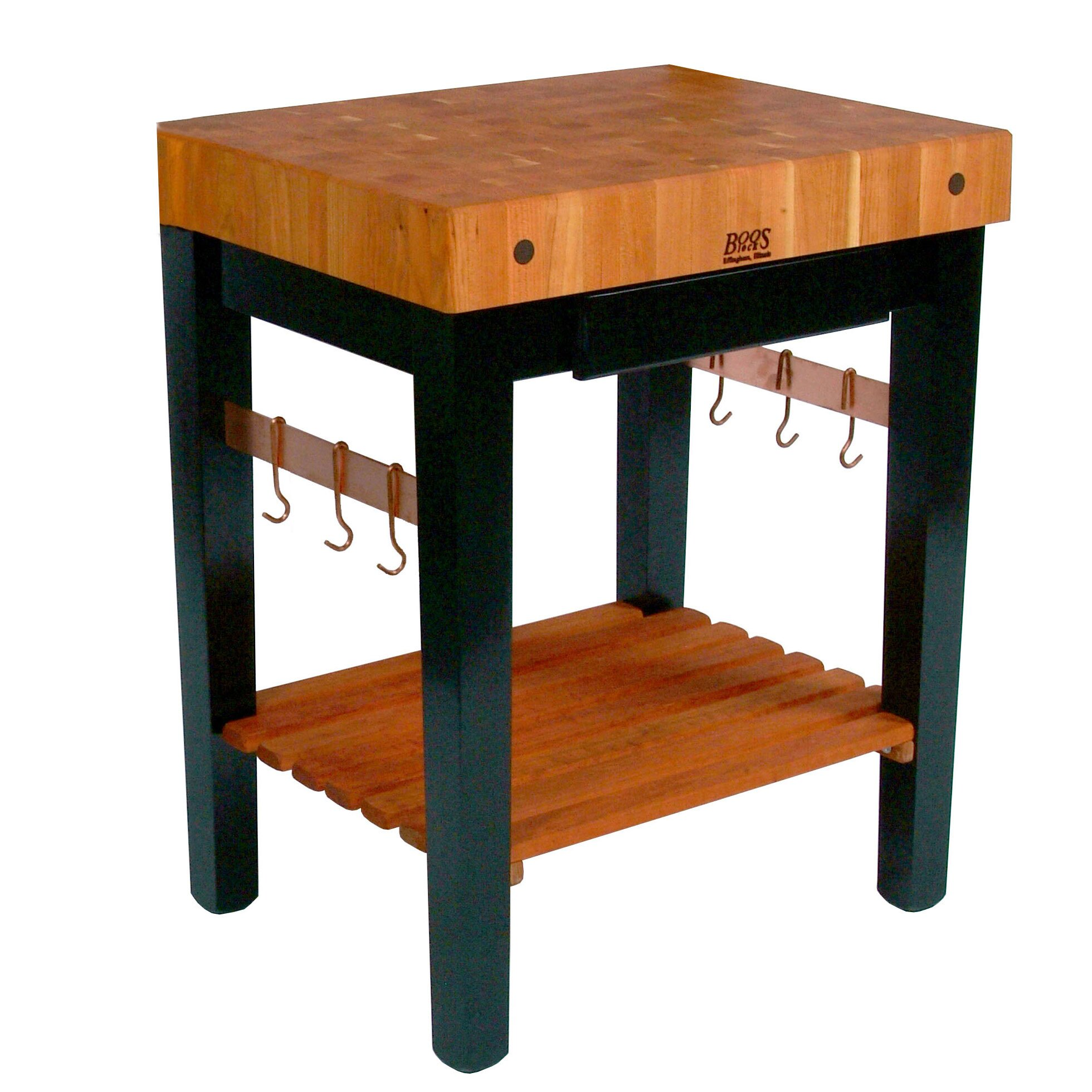 Rouge Et Noir Prep Table With Butcher Block Top Wayfair