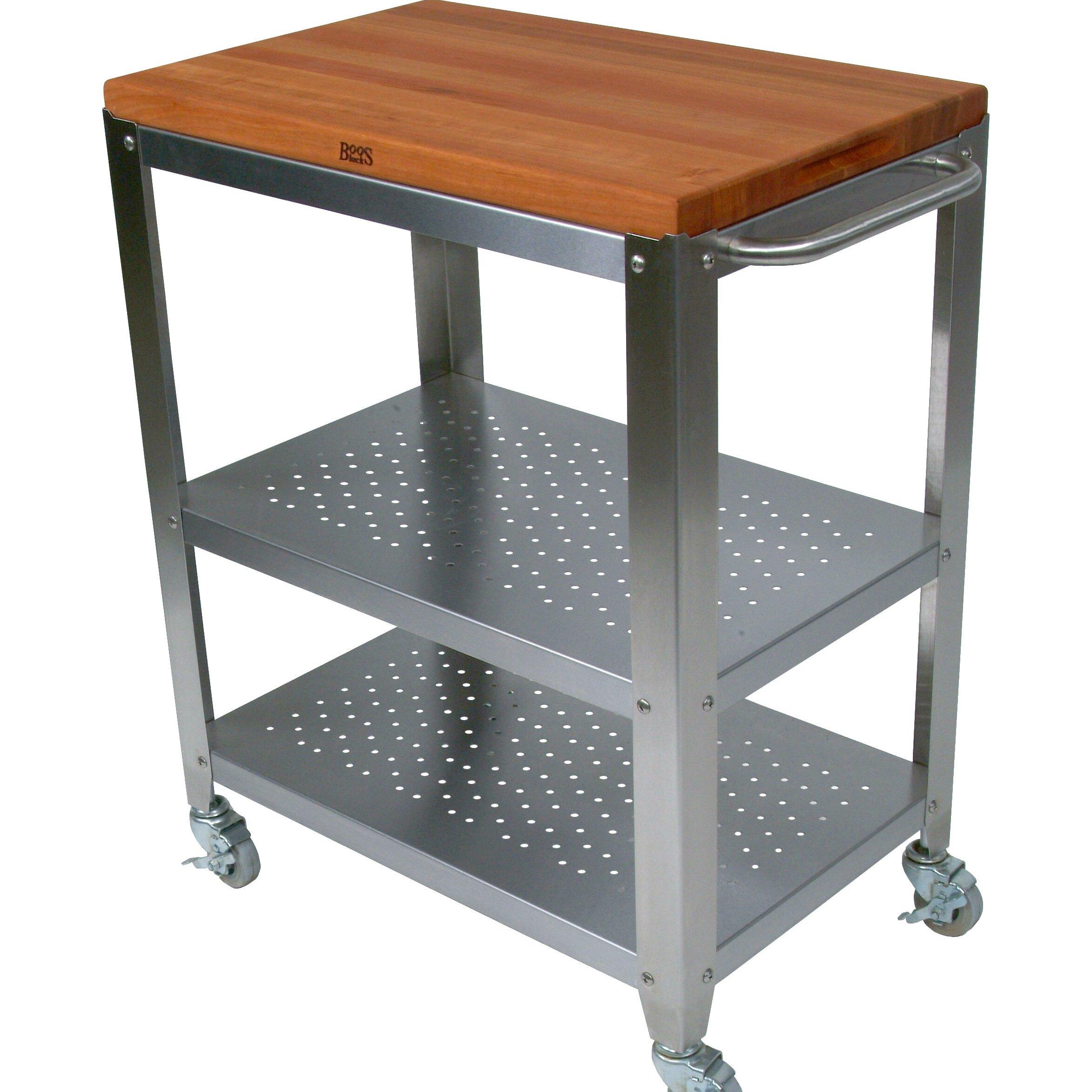 Cucina americana culinarte kitchen cart with wood top wayfair - John boos cucina ...