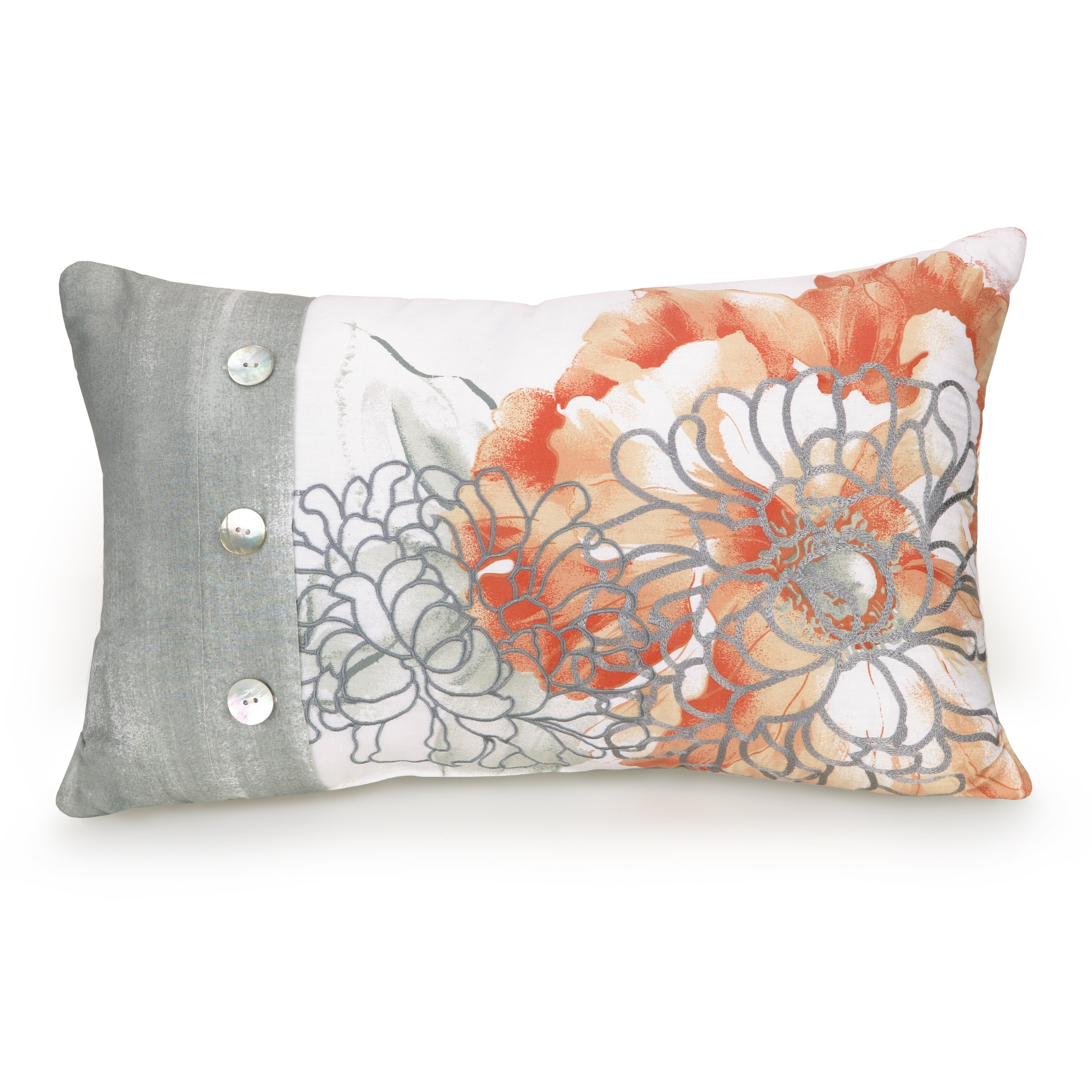 Jessica Simpson Home Golden Peony Floral Embroidered  : Jessica Simpson Home Golden Peony Floral Embroidered Decorative Pillow 80PHC83913C2420 from www.wayfair.com size 3108 x 3108 jpeg 895kB