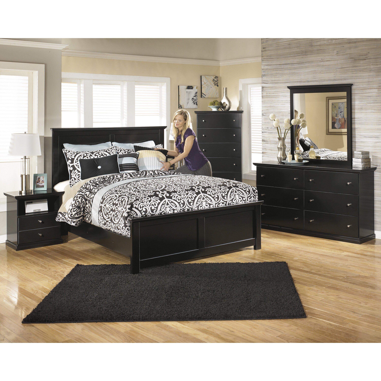 Discount Furniture Milwaukee: Maribel Panel Customizable Bedroom Set