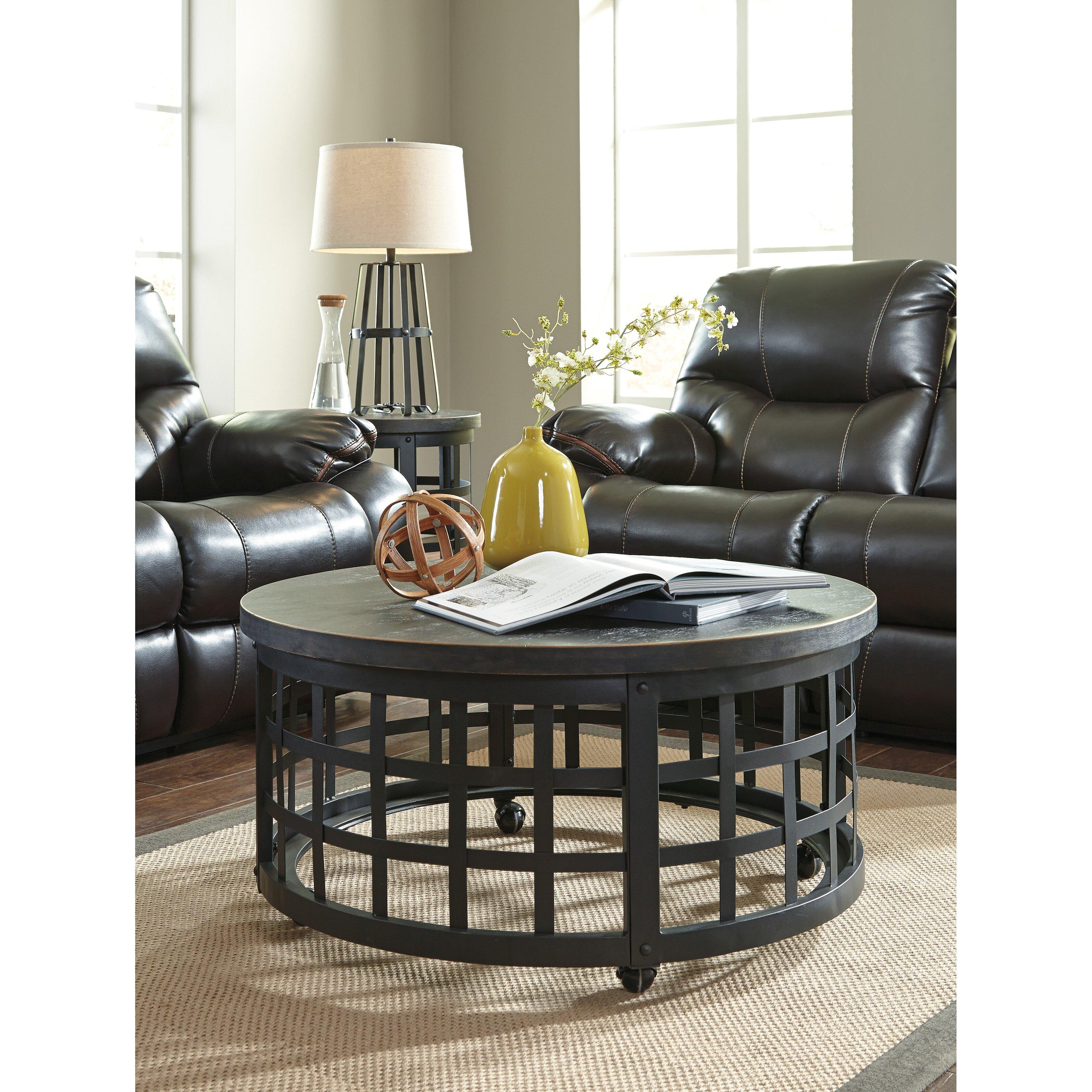 Wayfair Table: Signature Design By Ashley Marimon Coffee Table & Reviews