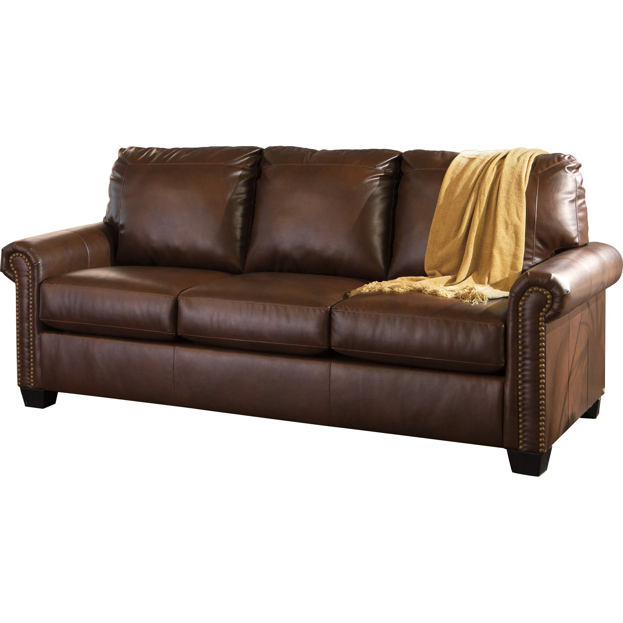 signature design by ashley lottie durablend queen sleeper sofa