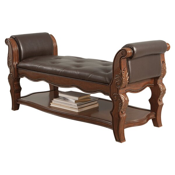 ledelle upholstered bedroom bench by signature design by ashley