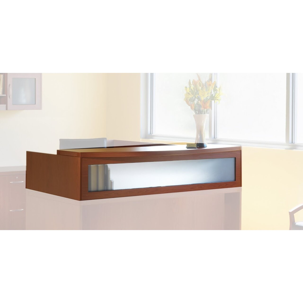 Aberdeen Series 15 63 Quot H X 72 Quot W Reception Desk Hutch
