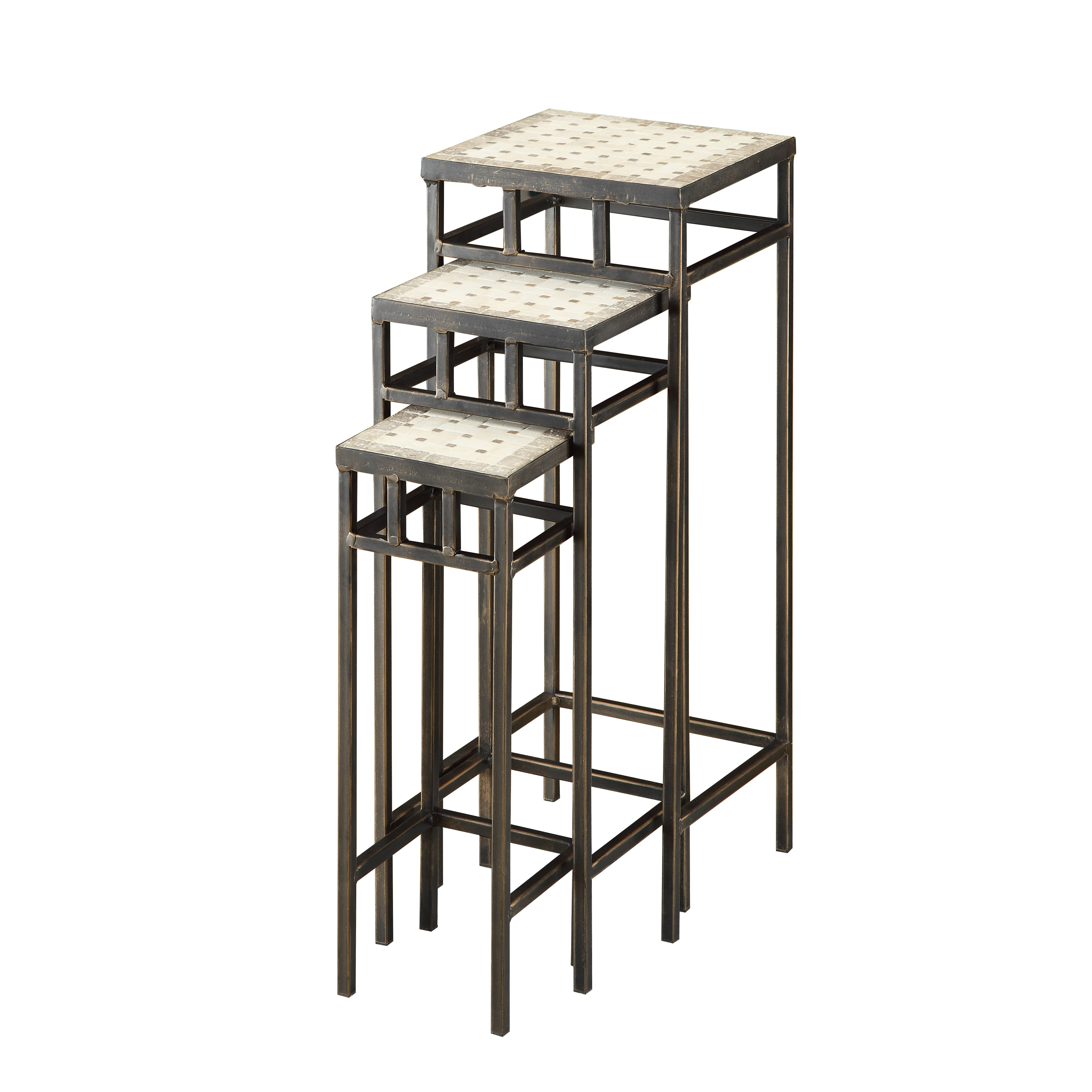 Living Room Furniture Nesting End Tables 4D Concepts SKU: FDC1200. Full resolution  portraiture, nominally Width 3960 Height 3960 pixels, portraiture with #7A7A51.