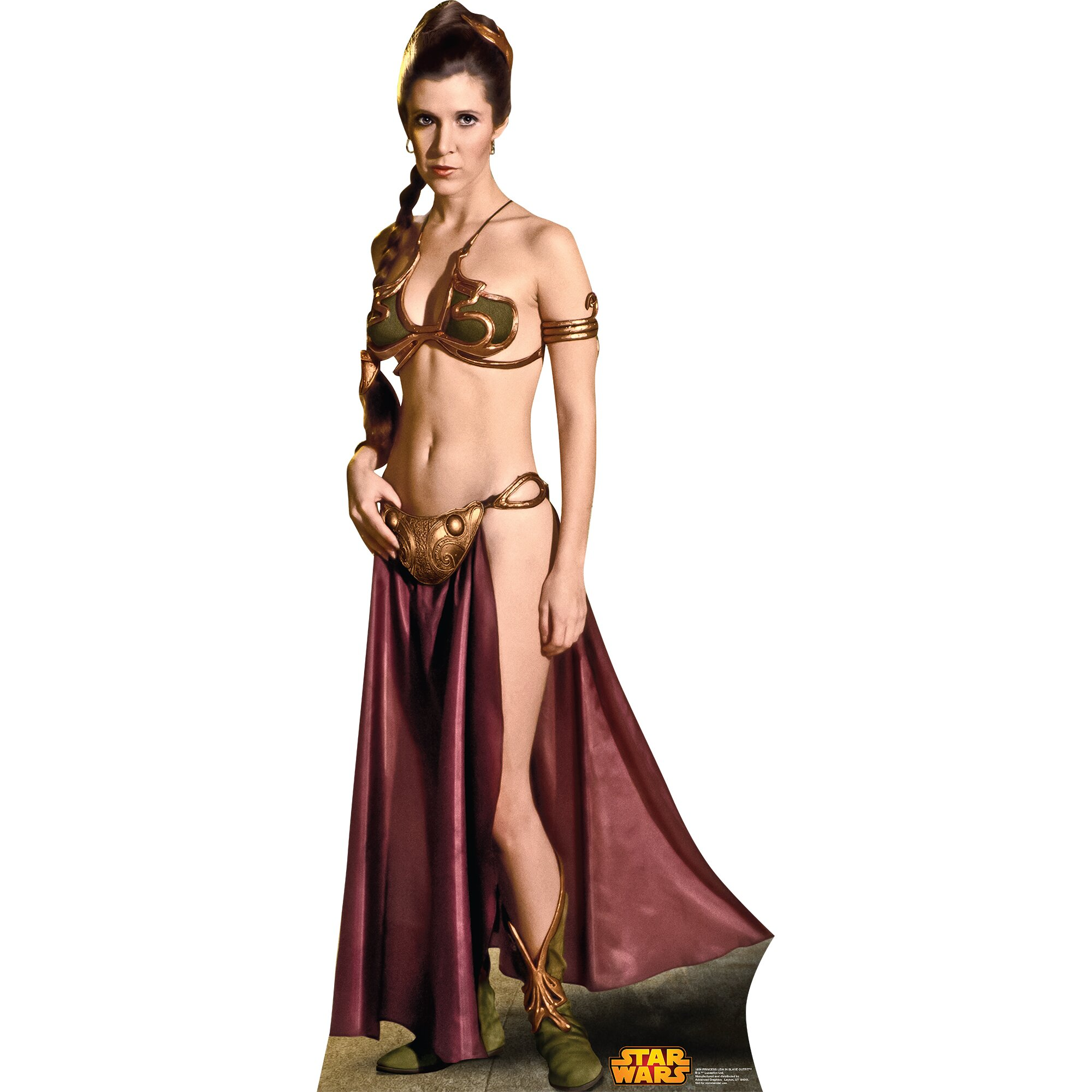 Star Wars Princess Leia Slave Girl Cardboard Standup | Wayfair