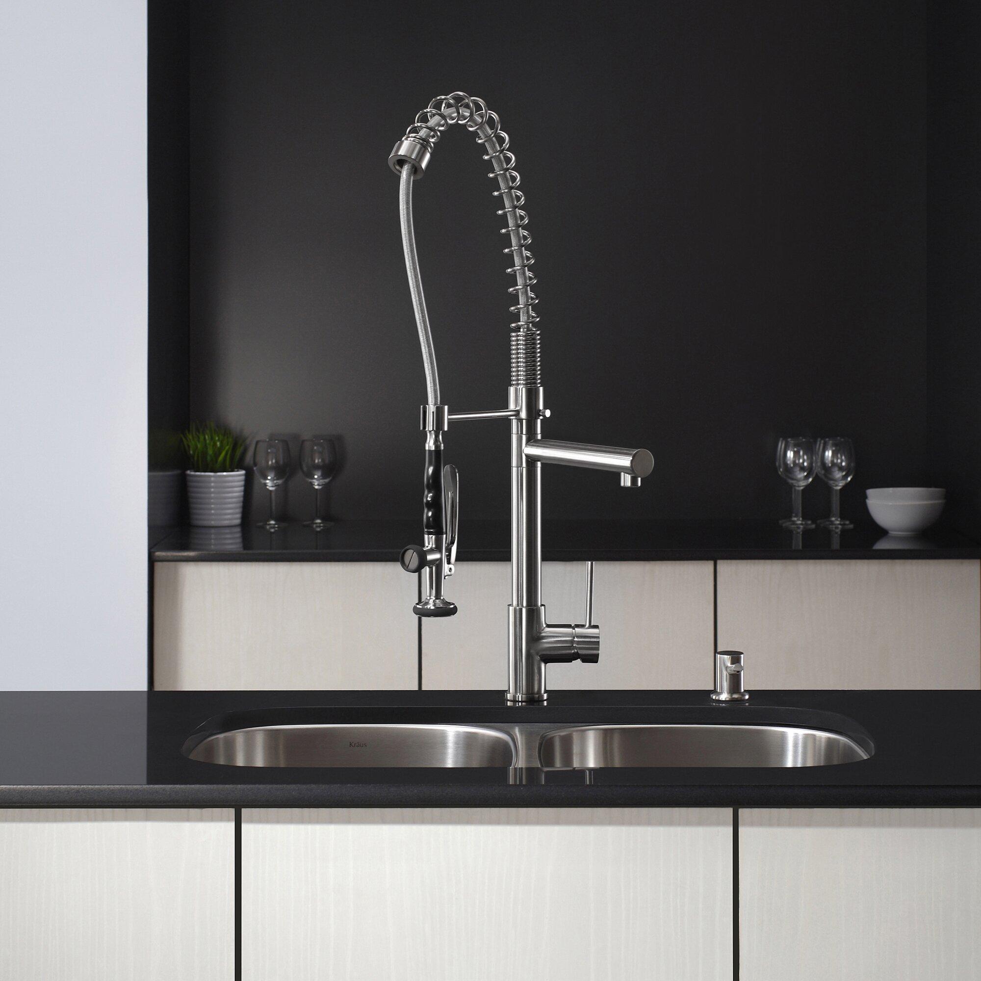 Kitchen Sink Faucet Pull Out Faucet Mixer Valve Single: Pull Out Kitchen Mixer Deck-Mounted Single Handle Faucet