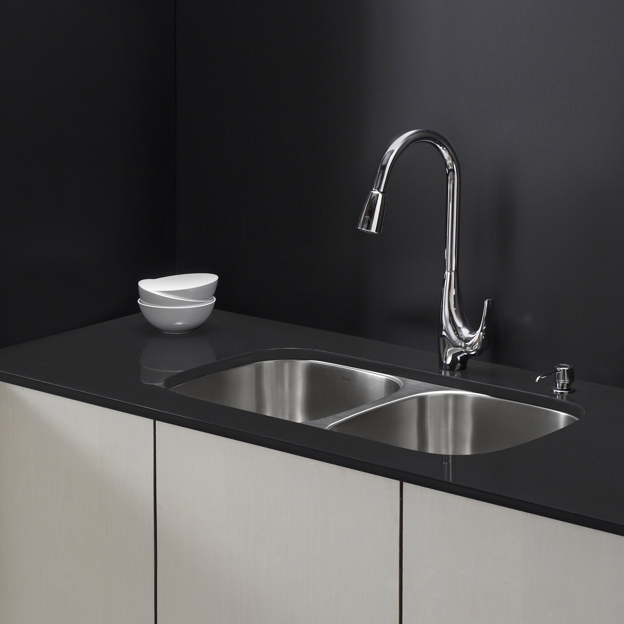 single handle single hole kitchen faucet with lever handle wayfair: melrose single handle kitchen faucet