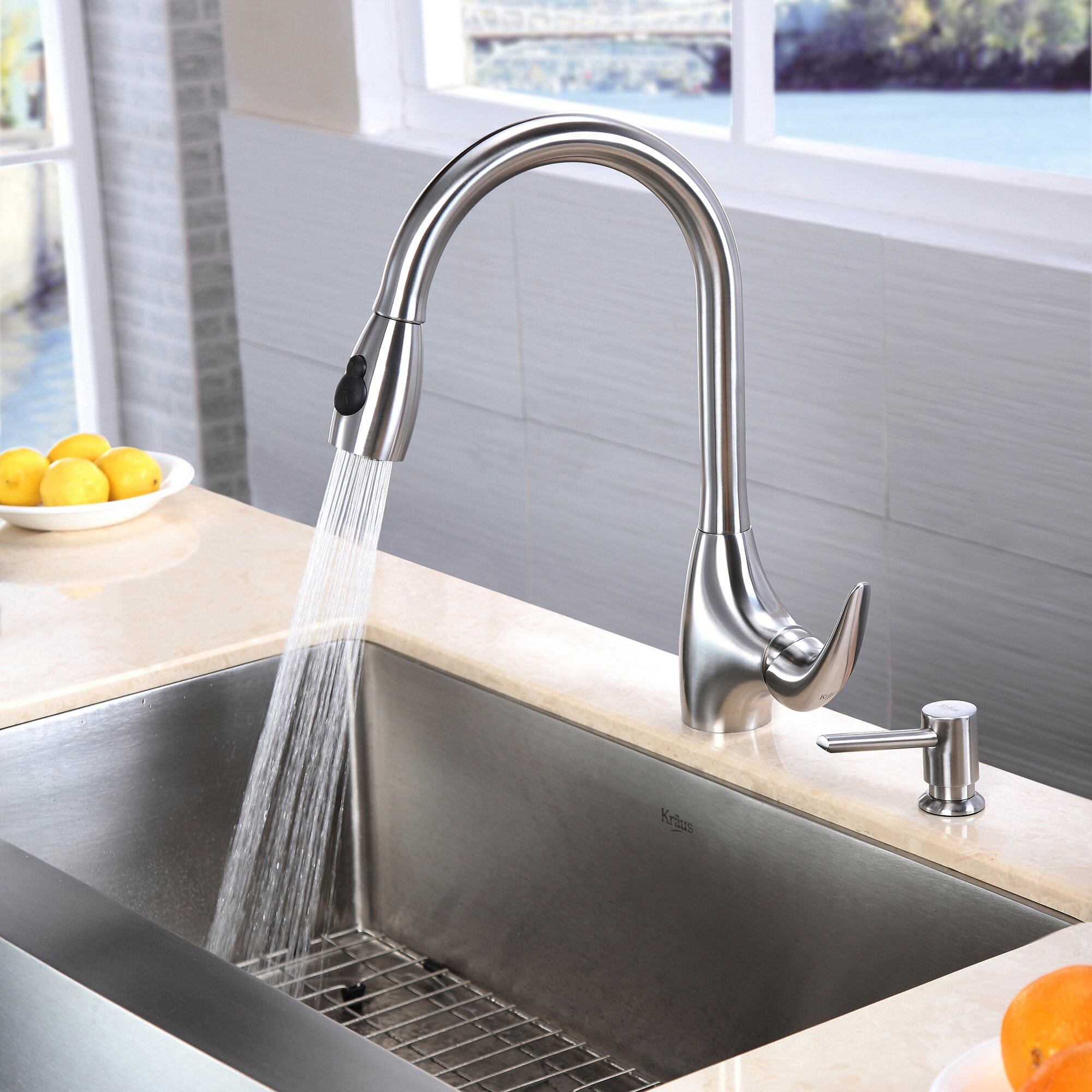 "Kitchen Sink Kraus: Kraus Farmhouse 33"" X 20.75"" Kitchen Sink & Reviews"