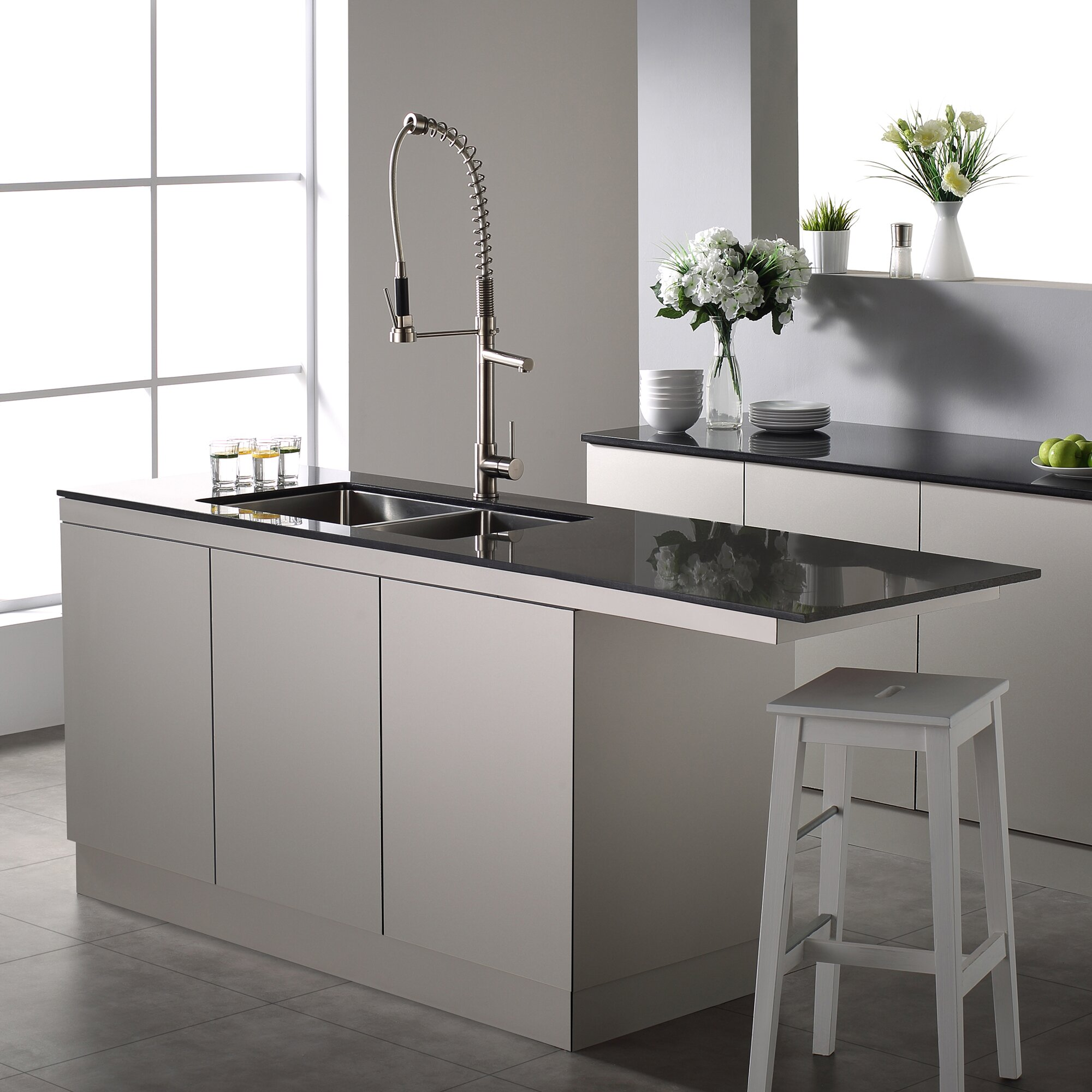 ... 40 Double Bowl 16 Gauge Stainless Steel Kitchen Sink Wayfair Supply