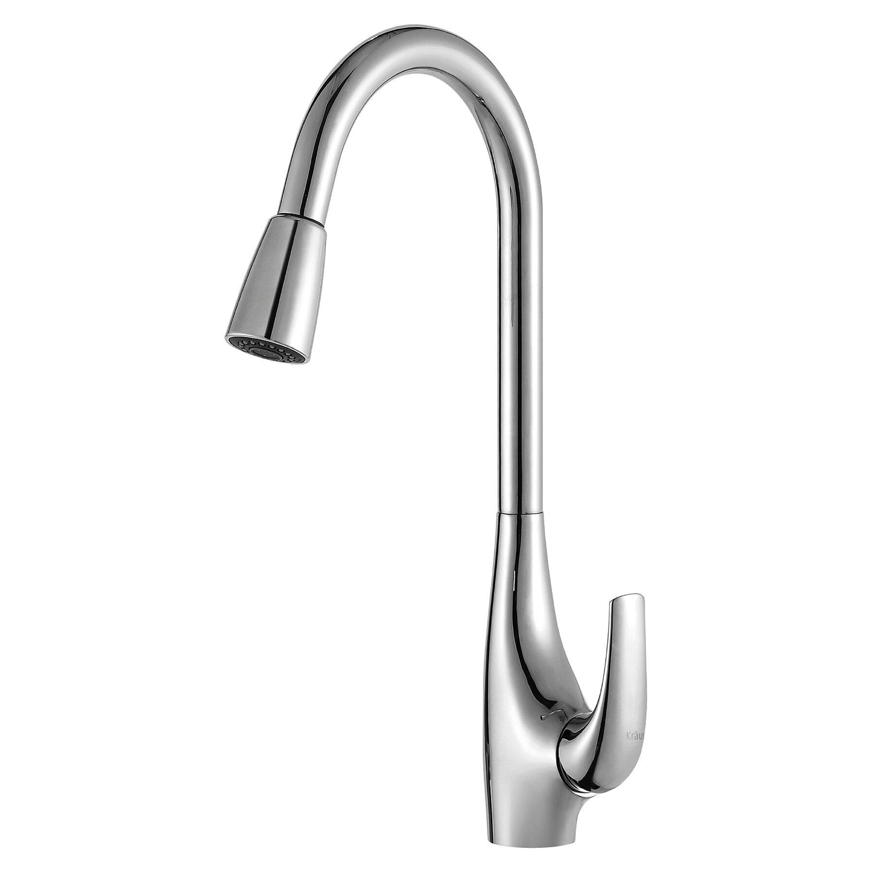 Single Lever Kitchen Faucet: Single Handle Single Hole Kitchen Faucet With Lever Handle