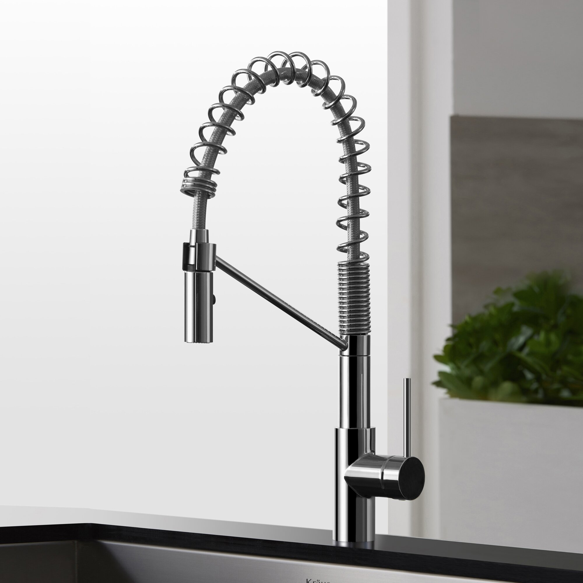 Industrial Style Kitchen Faucet: Kraus Mateo™ Single Lever Commercial Style Kitchen Faucet