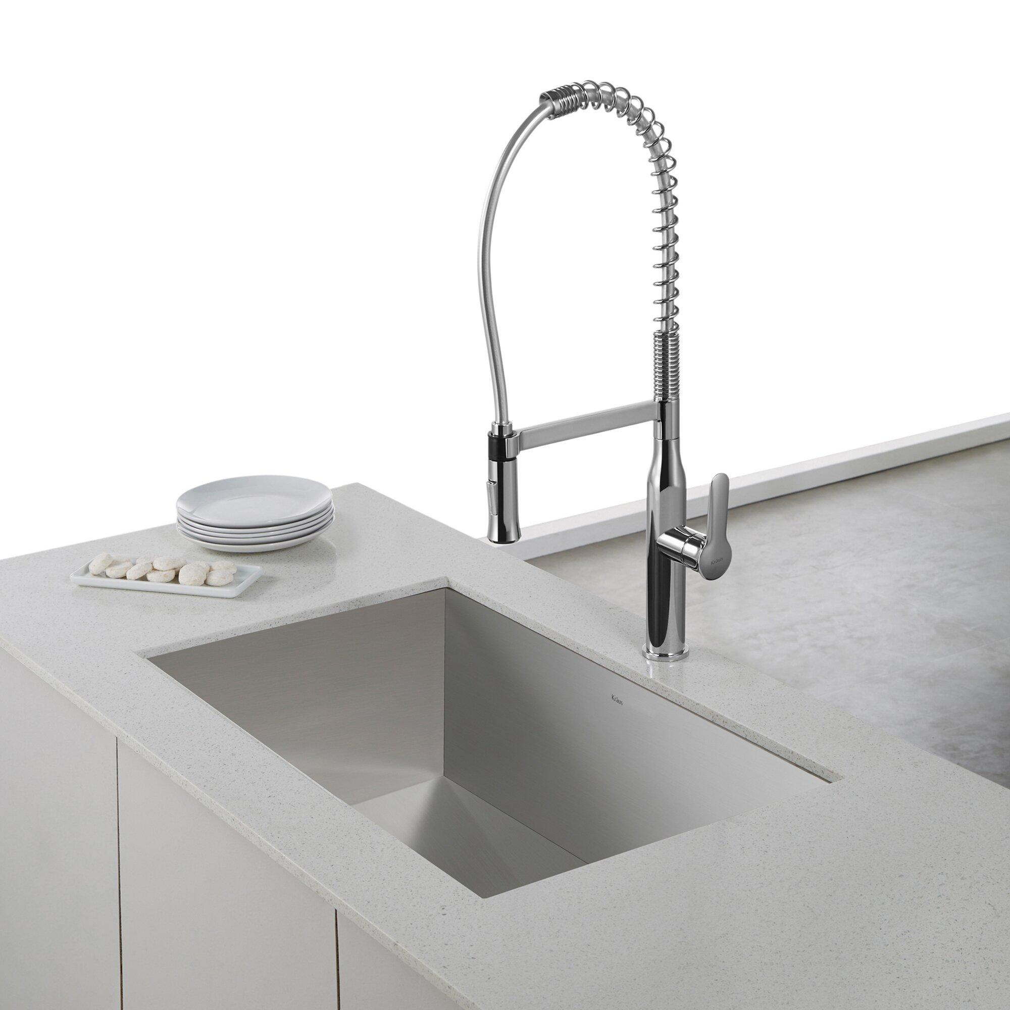 ... Handmade Undermount Single Bowl Stainless Steel Kitchen Sink Wayfair