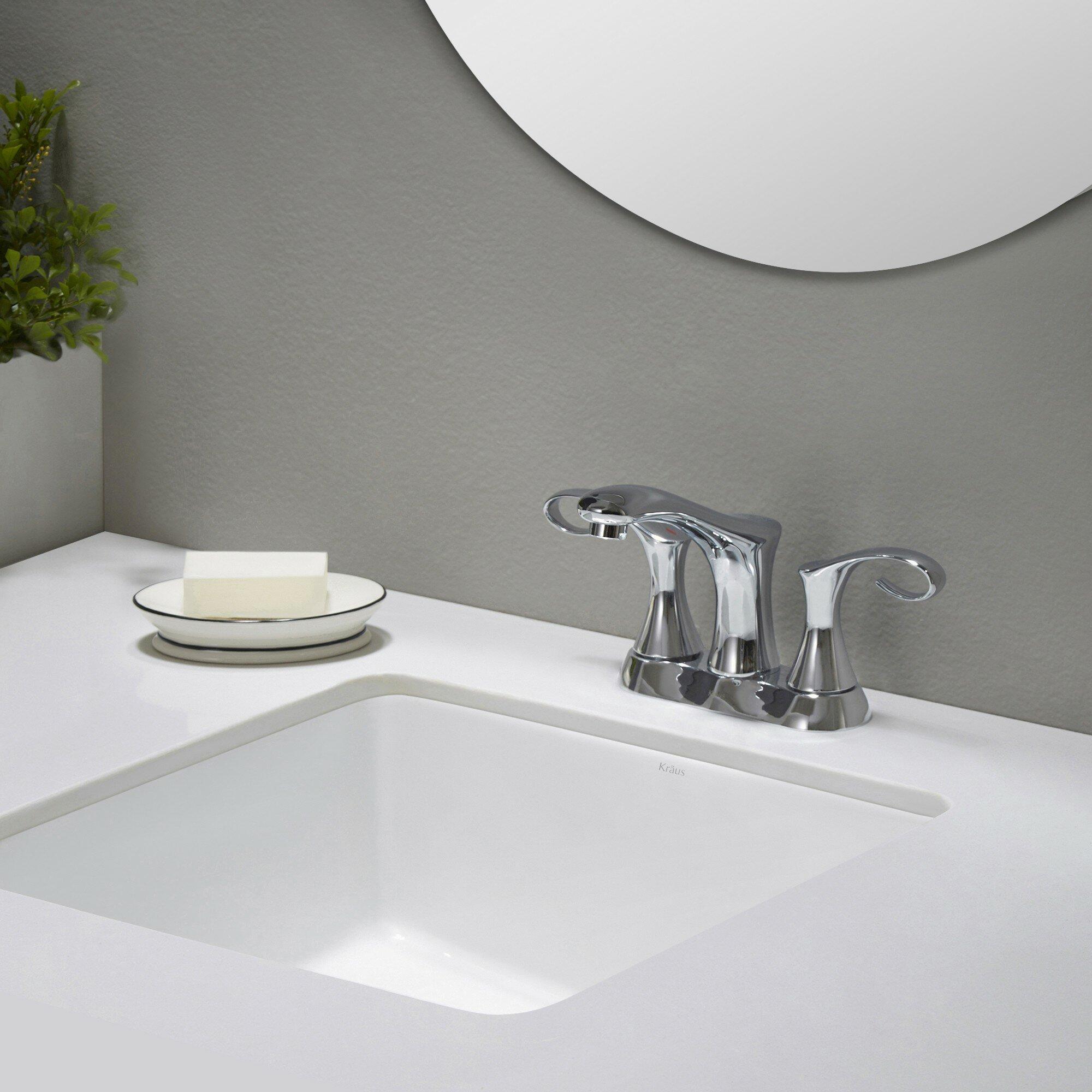 Elavo Ceramic Square Undermount Bathroom Sink With Overflow Wayfair