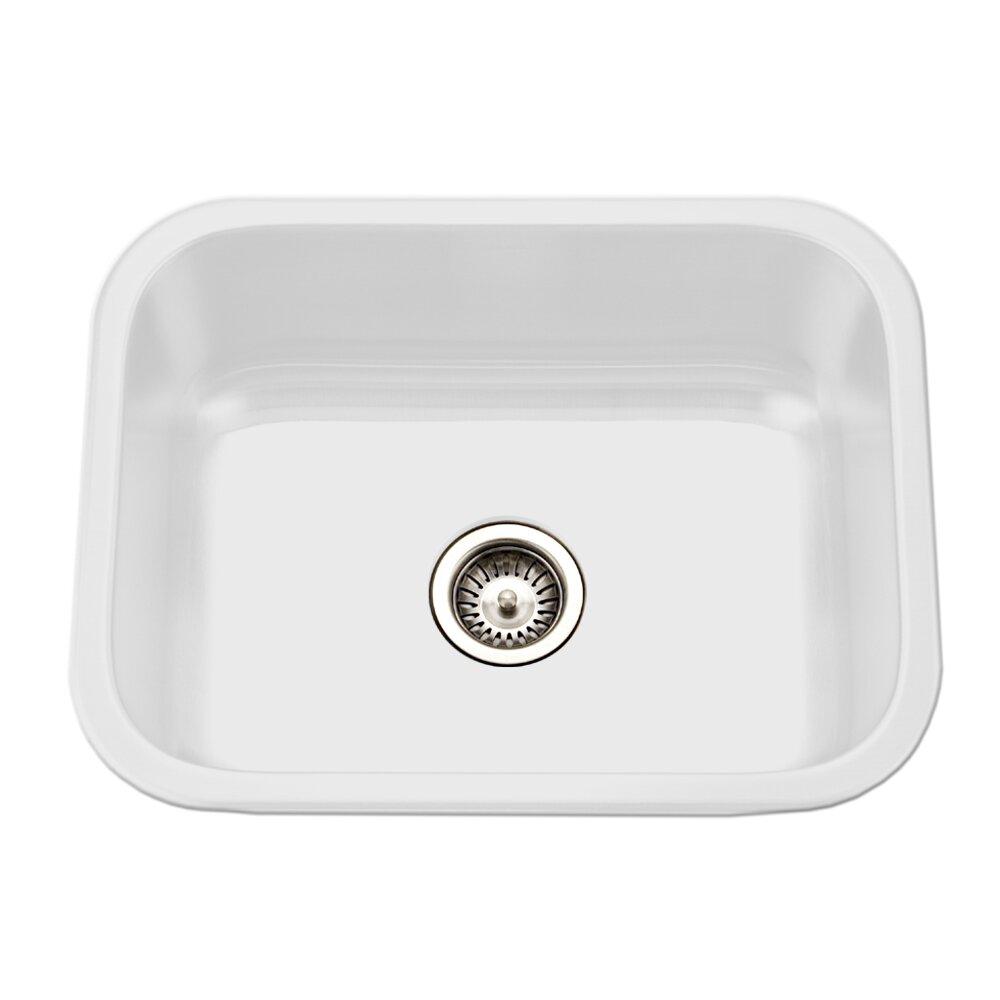 Porcela X 17 4 Porcelain Enamel Steel Undermount Single Kitchen Sink Wayfair