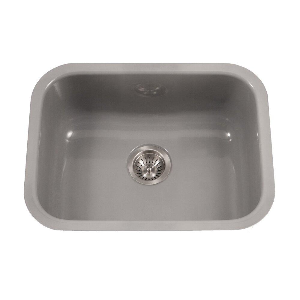 Porcela x 17 4 porcelain enamel steel undermount - Porcelain kitchen sink undermount ...