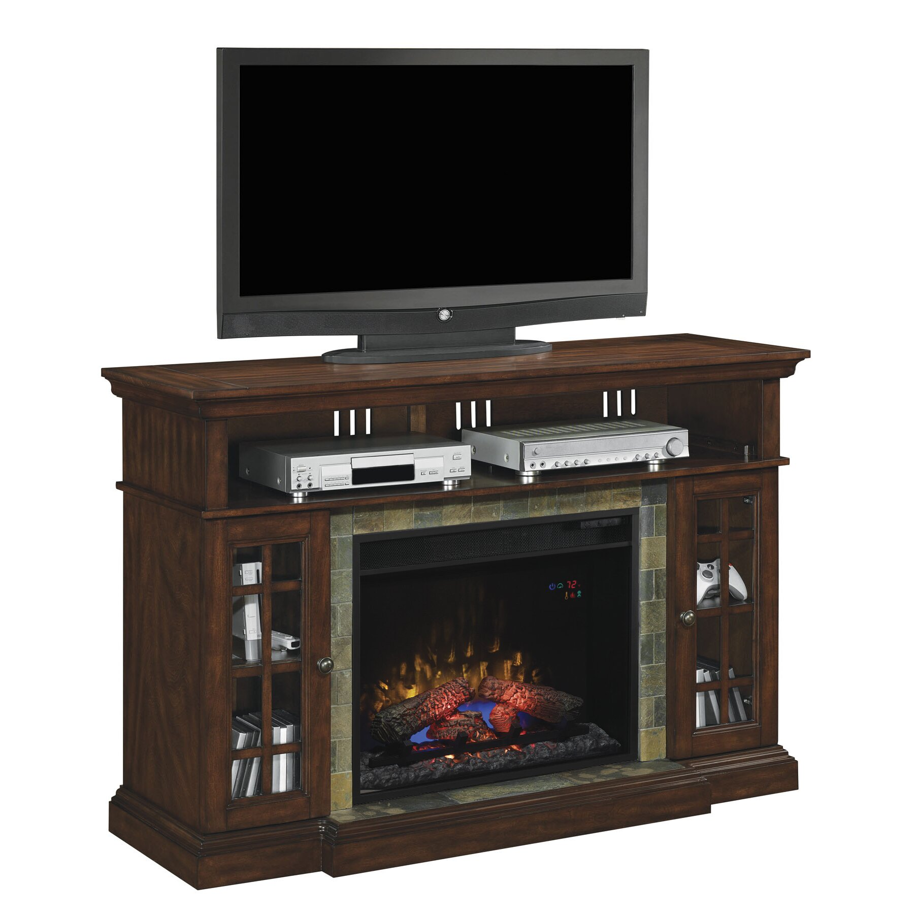 lakeland tv stand electric fireplace insert by classic flame