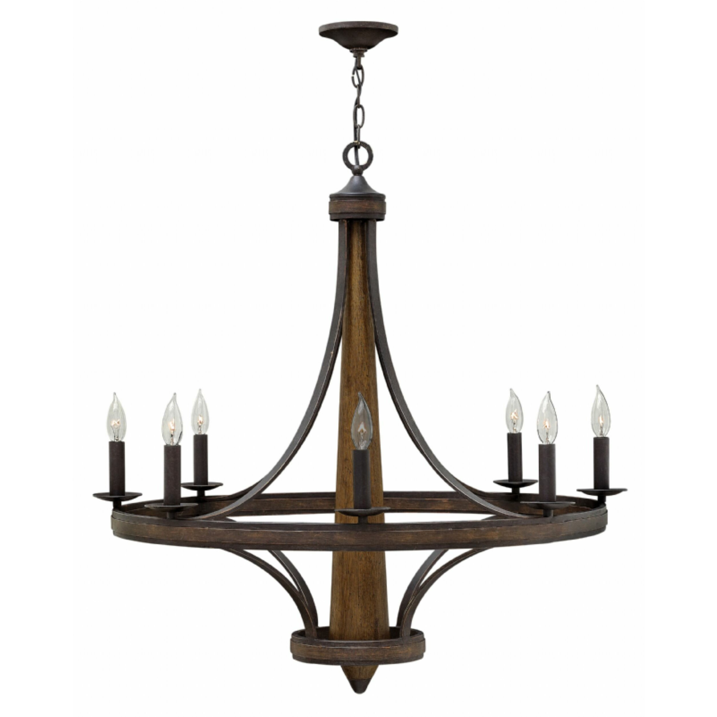 Bastille 8 Light Candle Chandelier