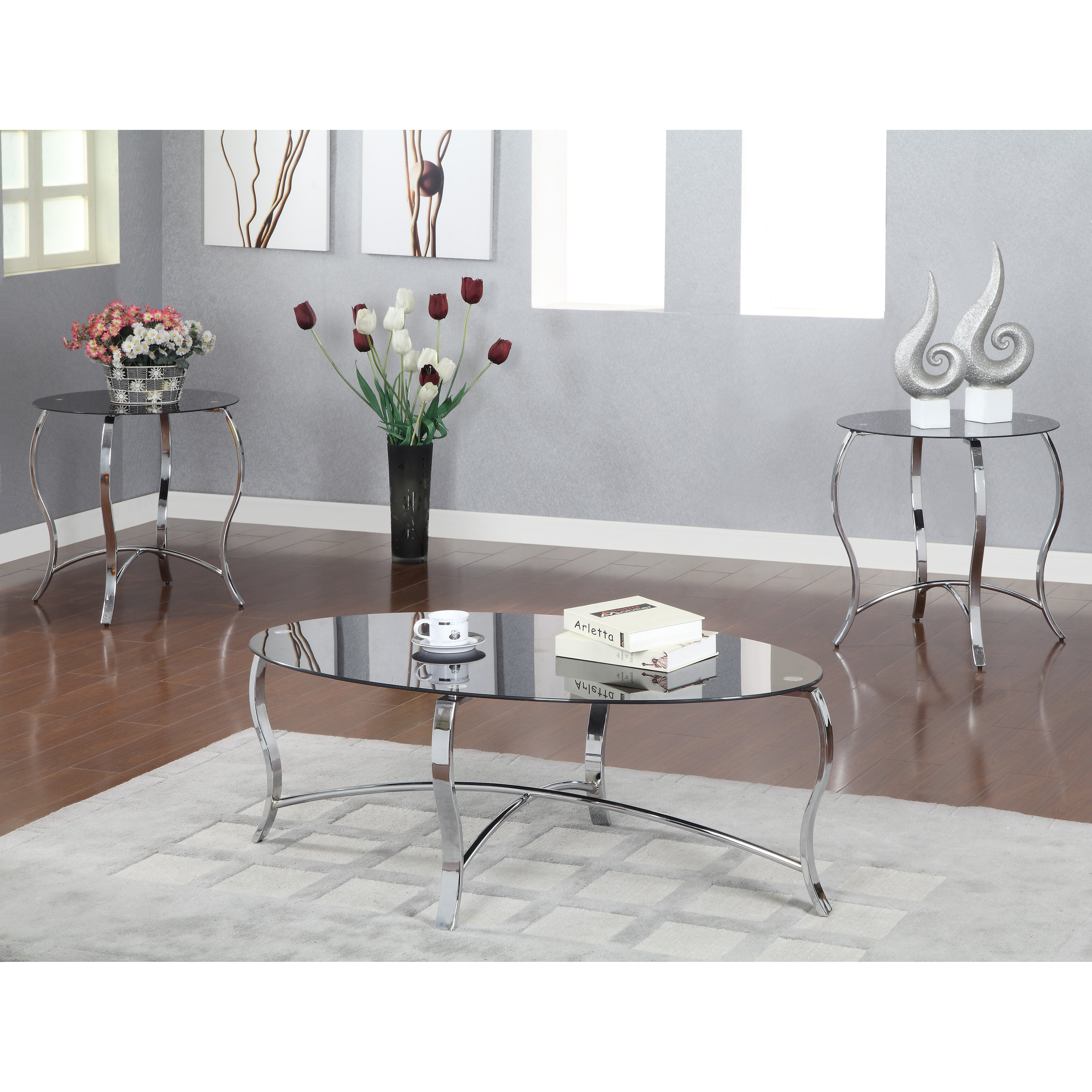 Hokku Coffee Table Sets: Hokku Designs Androme 3 Piece Coffee Table Set & Reviews