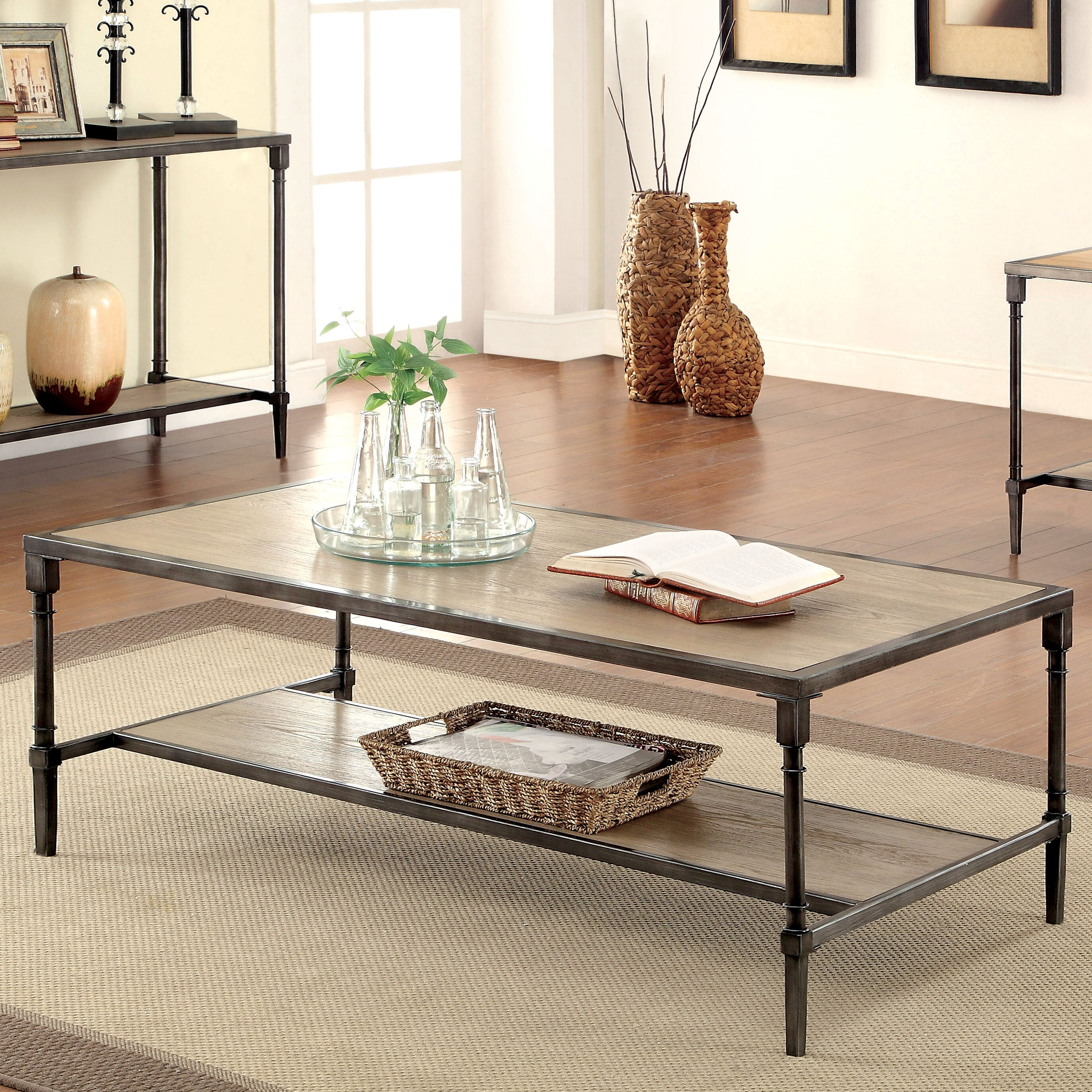 hokku designs leons coffee table reviews wayfair. Black Bedroom Furniture Sets. Home Design Ideas