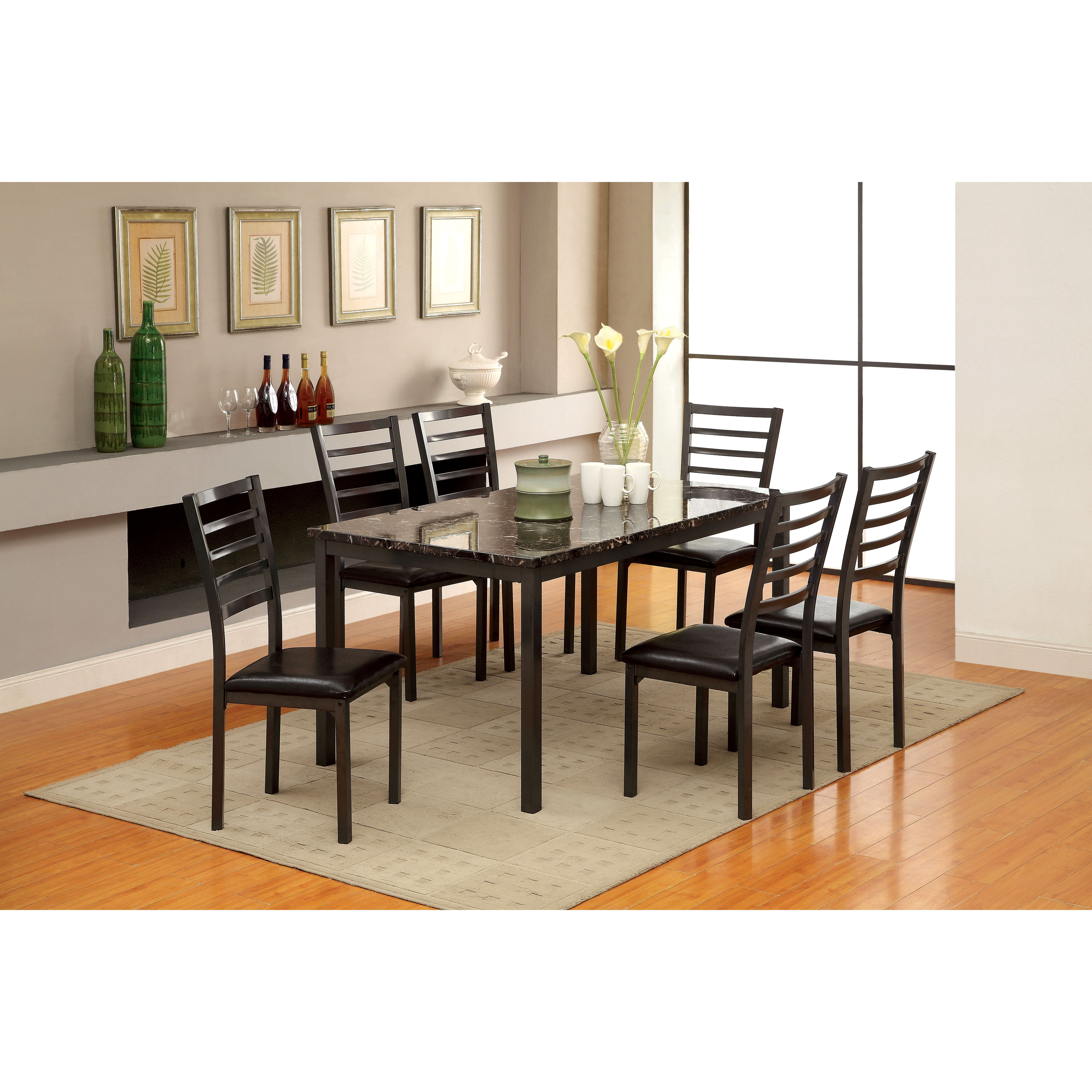 Hokku designs cramer 7 piece dining set reviews wayfair for Cramer furniture