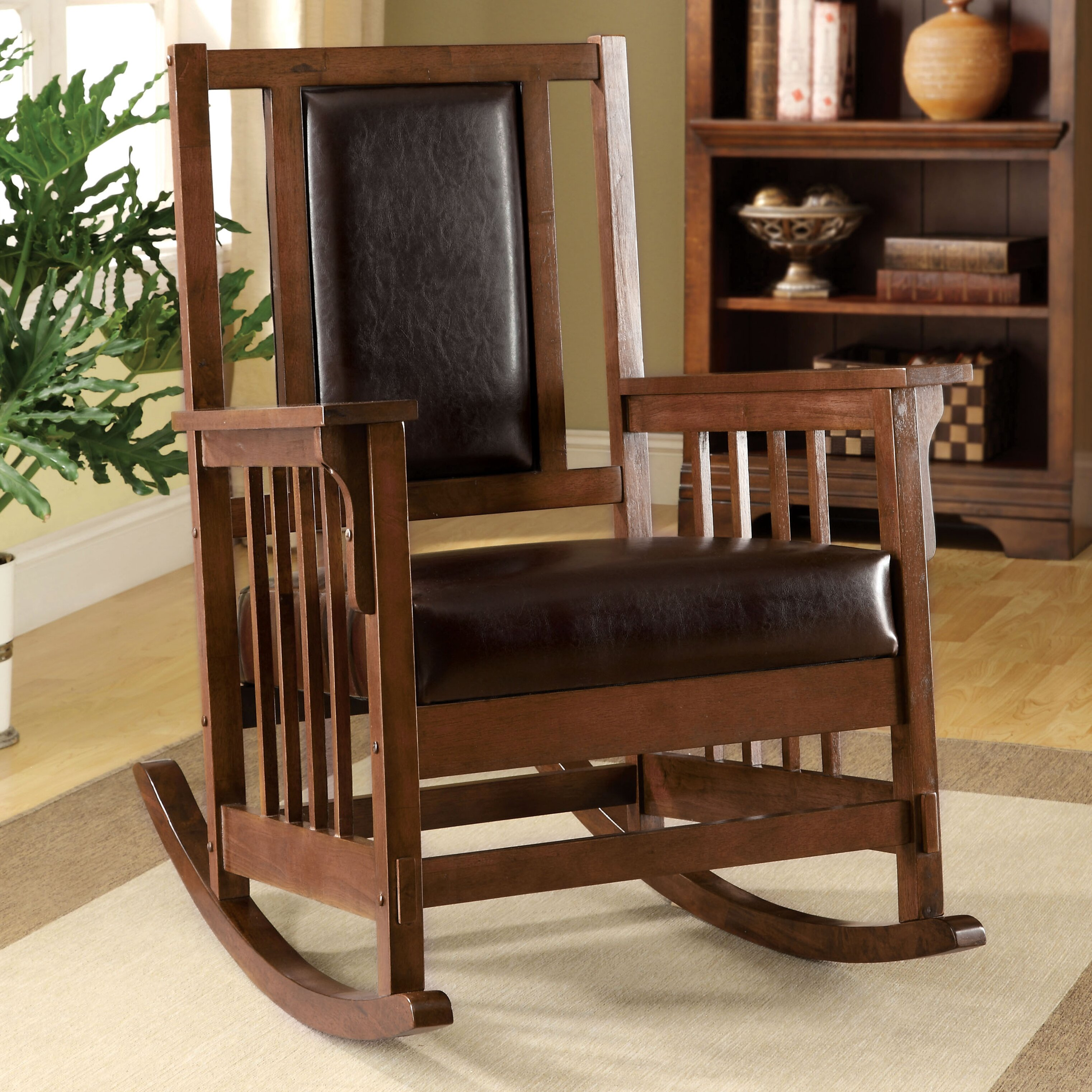Valley leatherette arm rocking chair wayfair