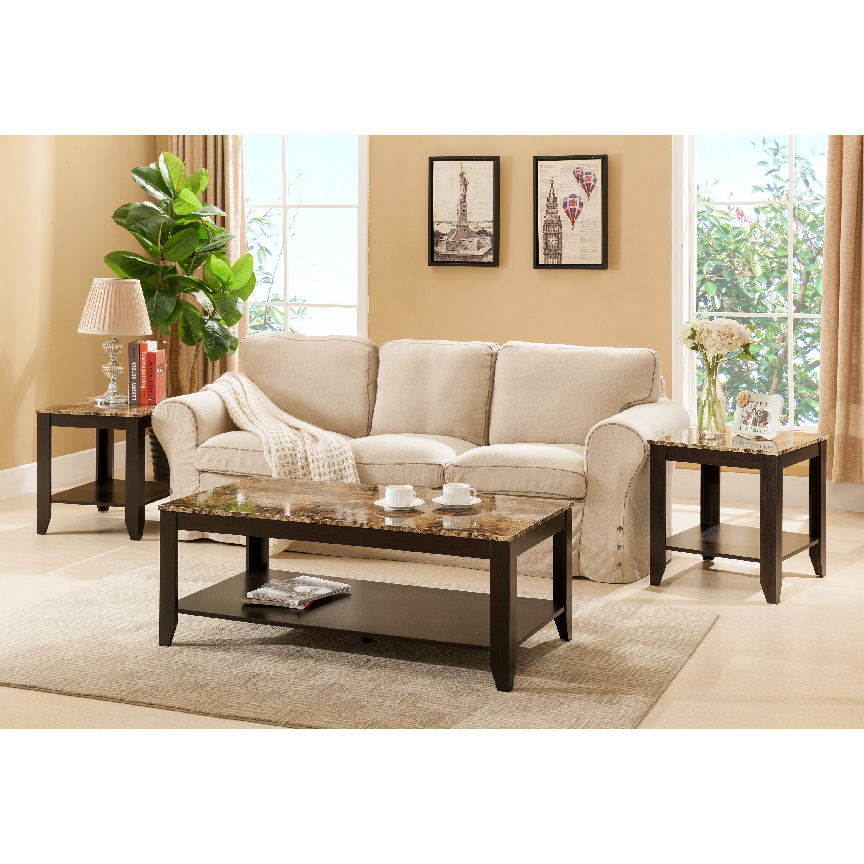Hokku Coffee Table Sets: Konstanz 3 Piece Coffee Table Set