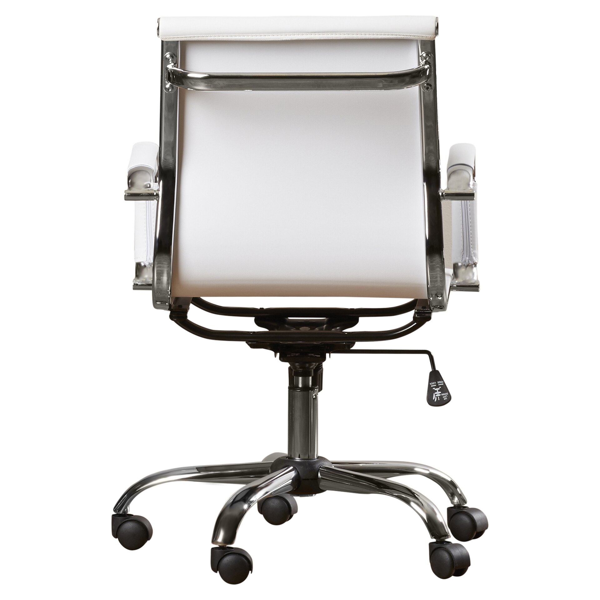 dorynn low back office chair with casters wayfair