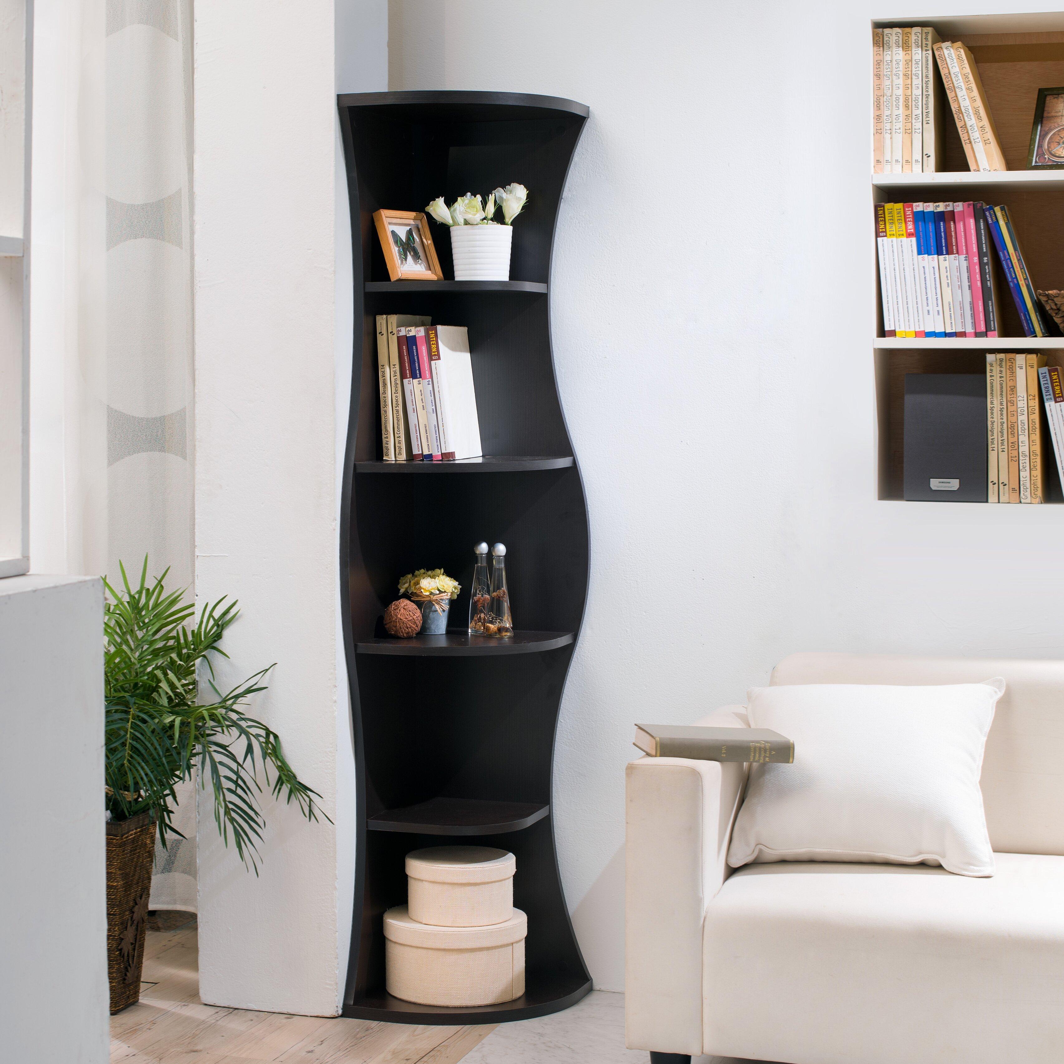 71 Quot Corner Unit Bookcase Wayfair