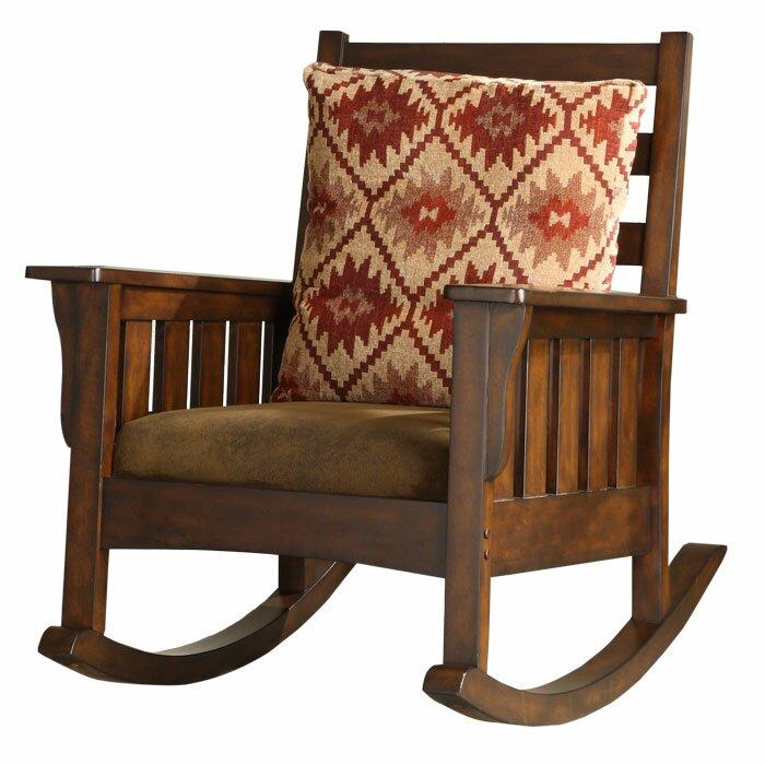 Furniture Living Room Furniture ... Wood Rocking Chairs Hokku Designs ...