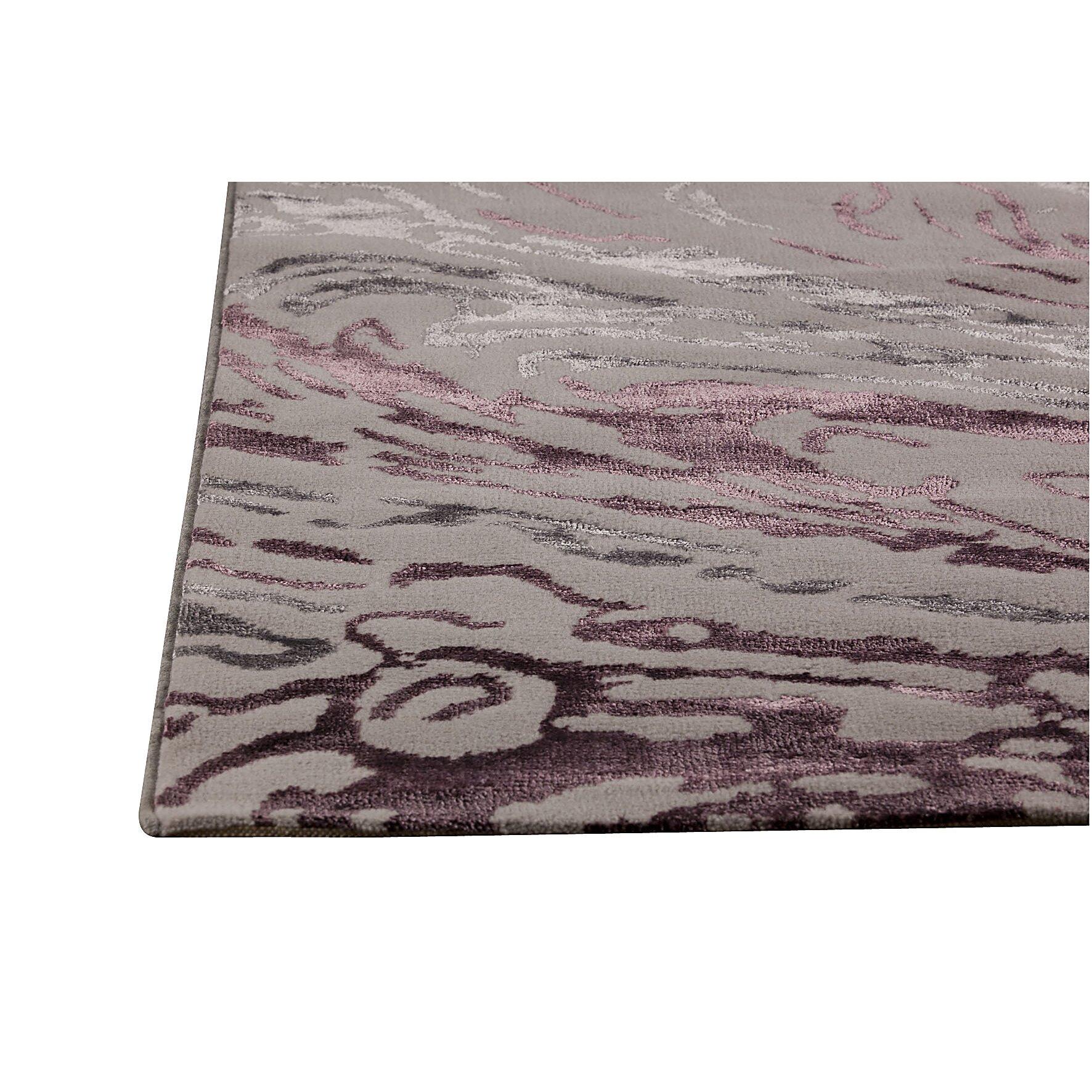 Dark Grey Purple Rug Wayfair