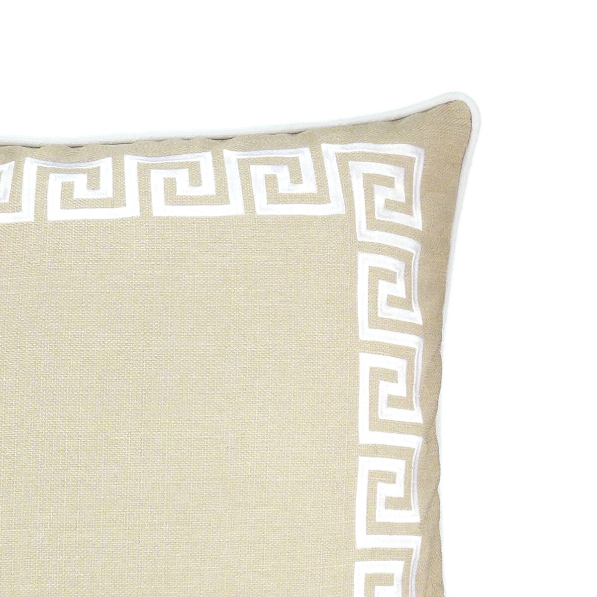 Wave Key Modern Greek Key Throw Pillow Wayfair