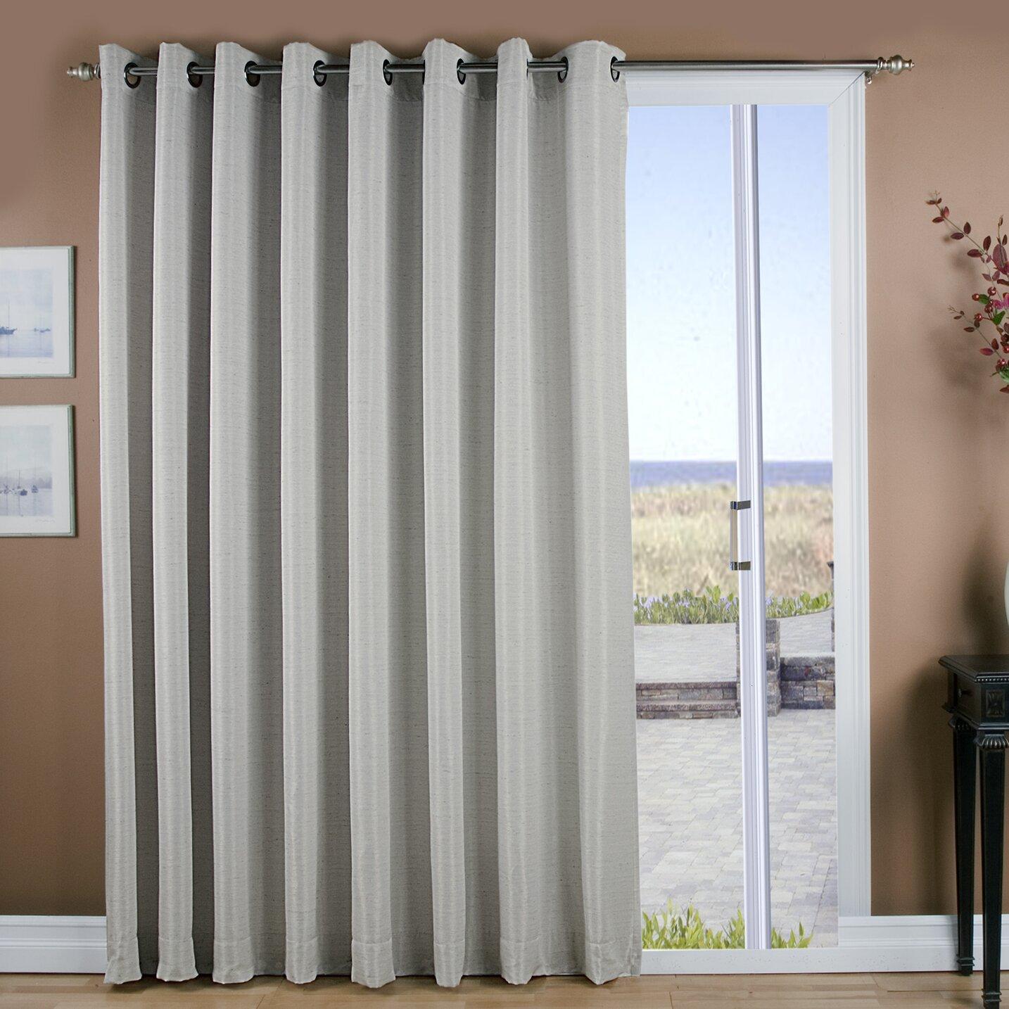 ricardo trading grasscloth lined grommet patio single curtain panel reviews wayfair. Black Bedroom Furniture Sets. Home Design Ideas