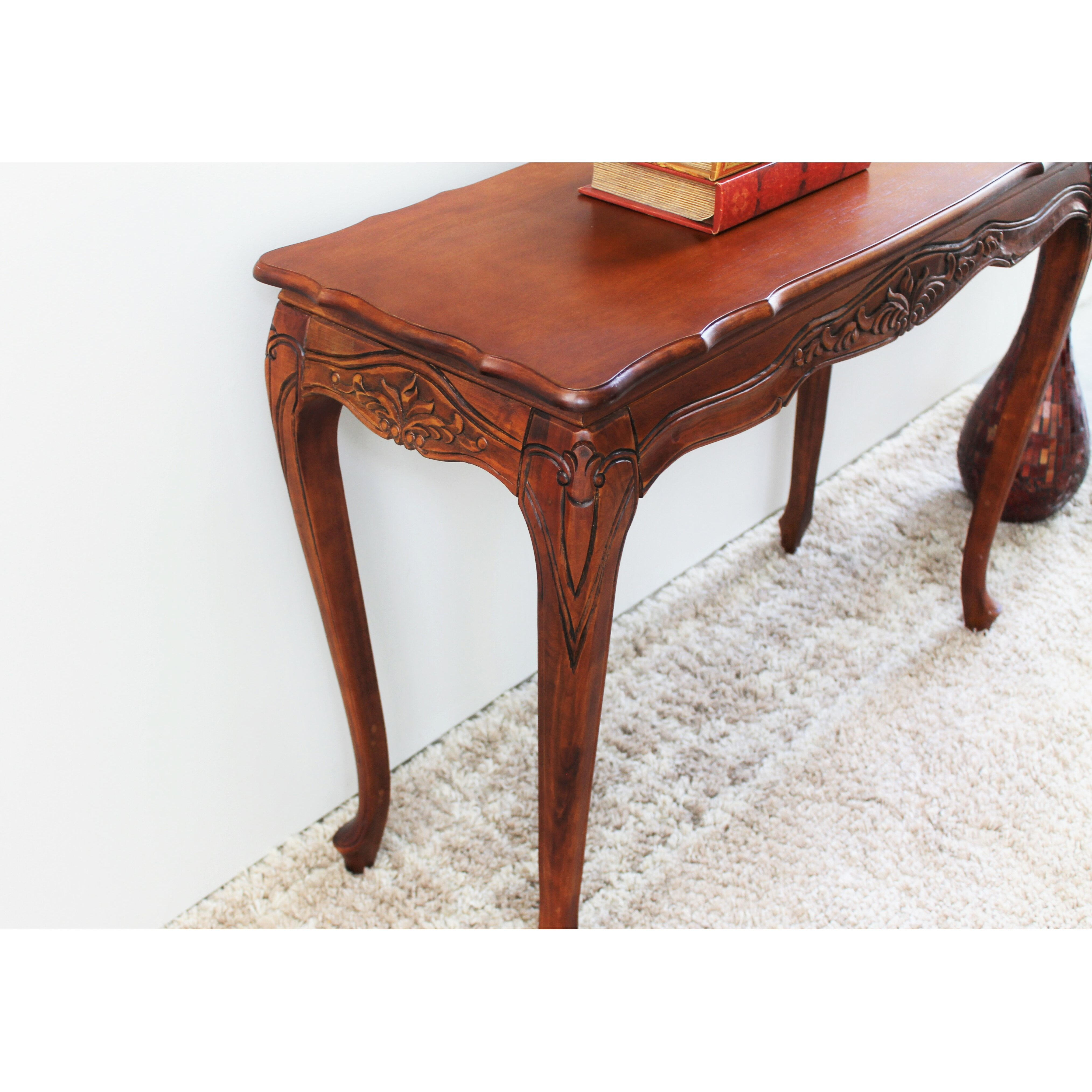 Hand Carved Console Table ~ Windsor hand carved console table wayfair