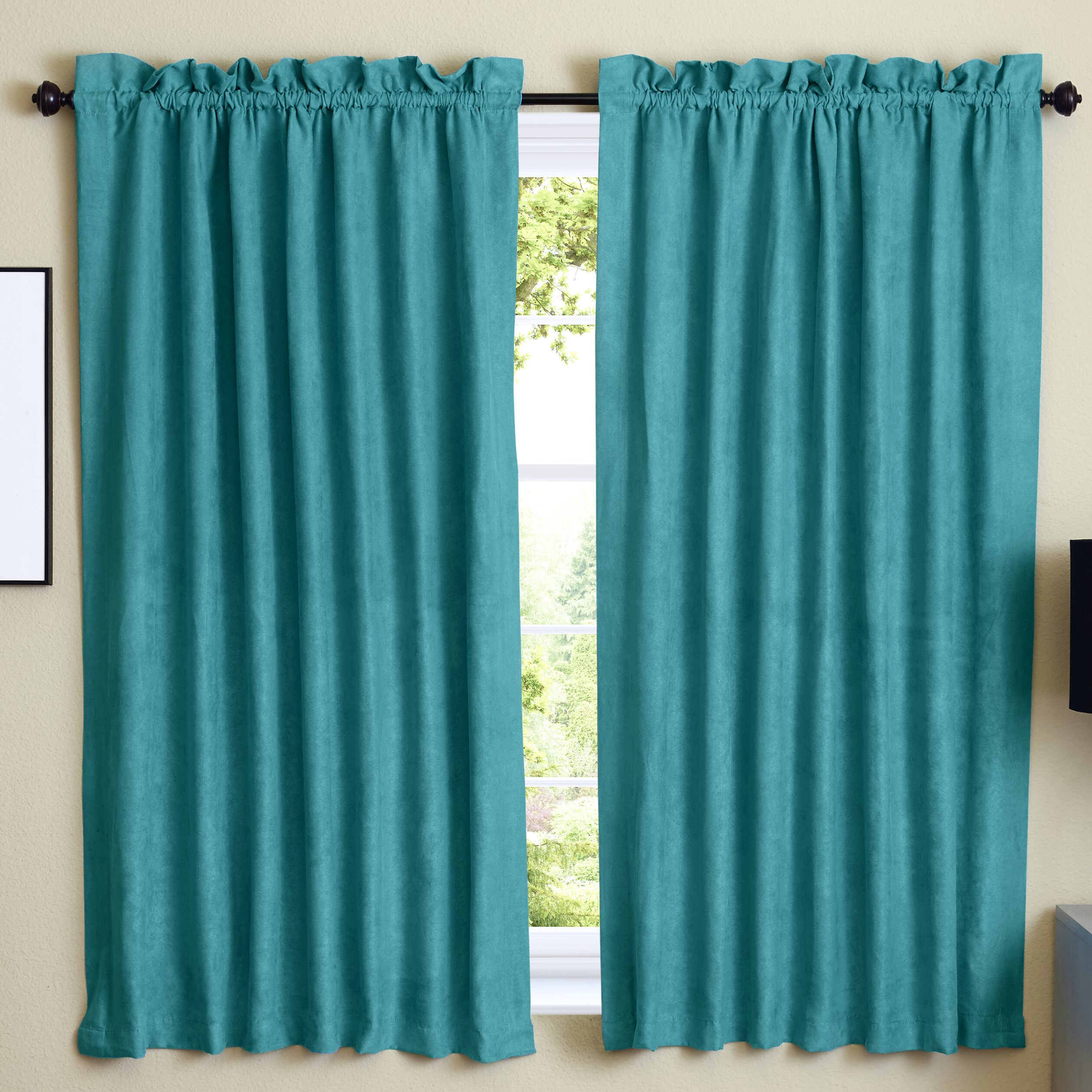 Microsuede Blackout Curtain Panels