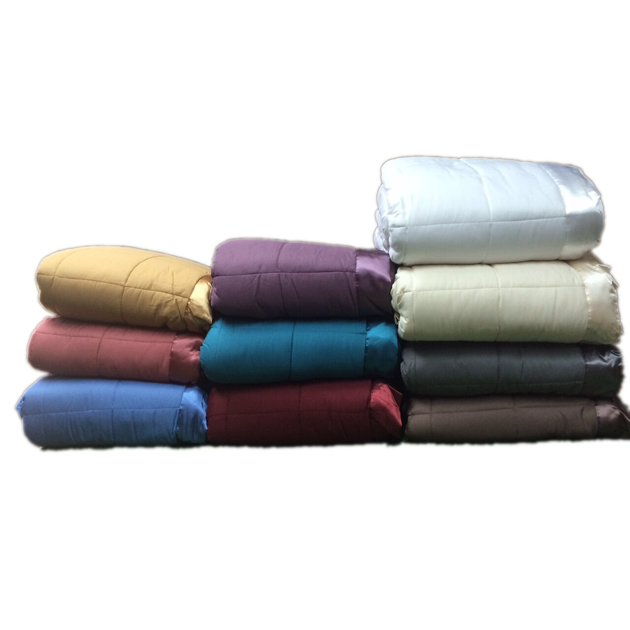 Down Alternative Blanket with Satin Trim by Cozy Fleece