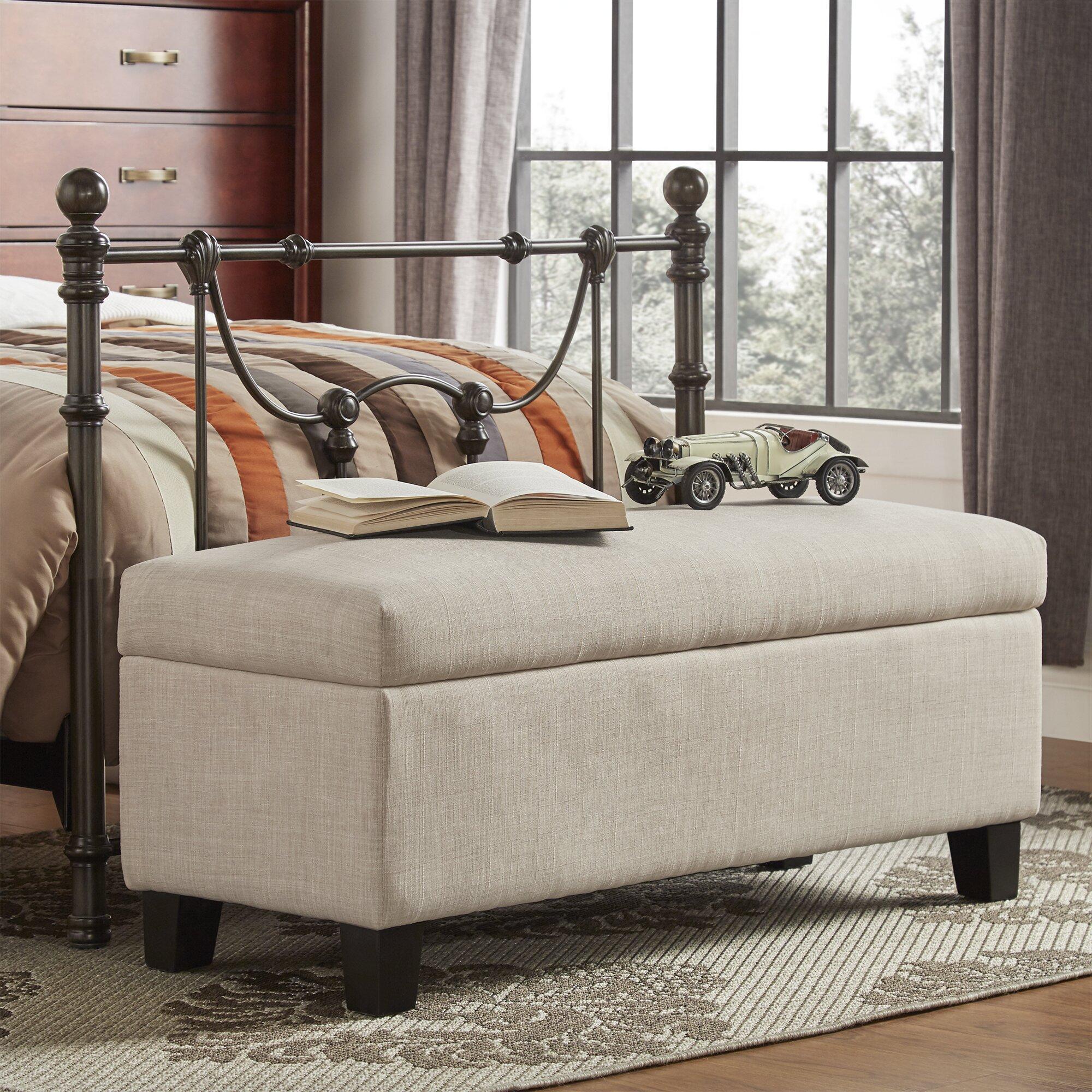 Kingstown home kendrick upholstered storage bedroom bench - Bedroom storage bench upholstered ...