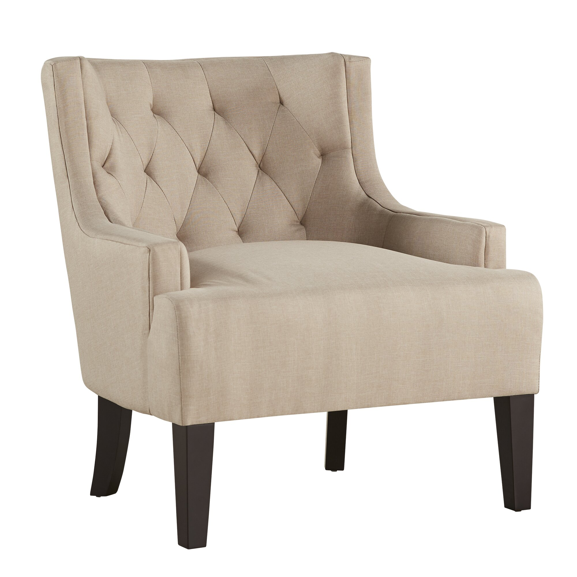 Kingstown home dawan tufted accent arm chair reviews Tufted accent chair