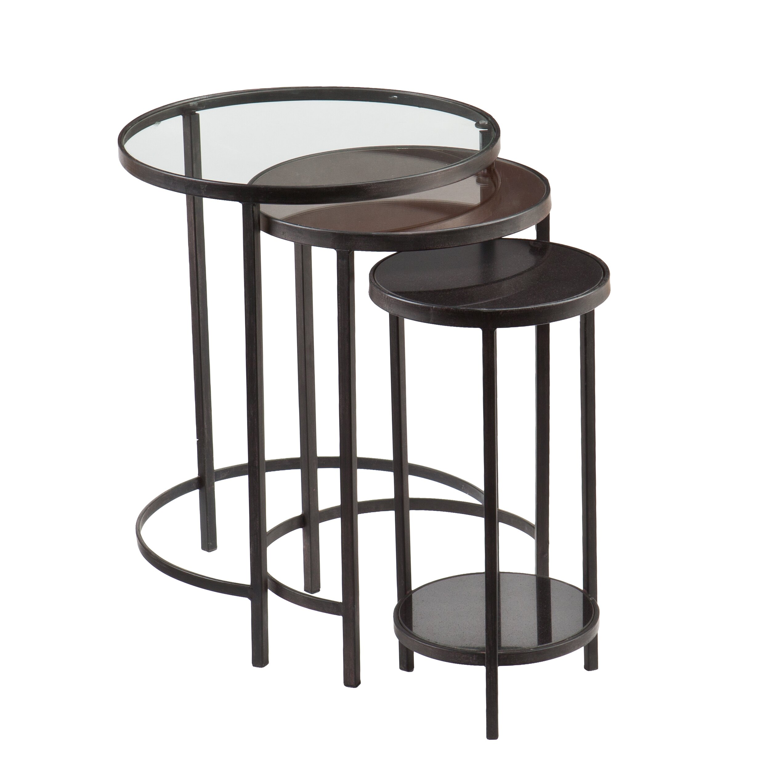 Ocelle 3 Piece Nesting Table Set By Holly & Martin. Full resolution  photo, nominally Width 2500 Height 2500 pixels, photo with #5D504A.