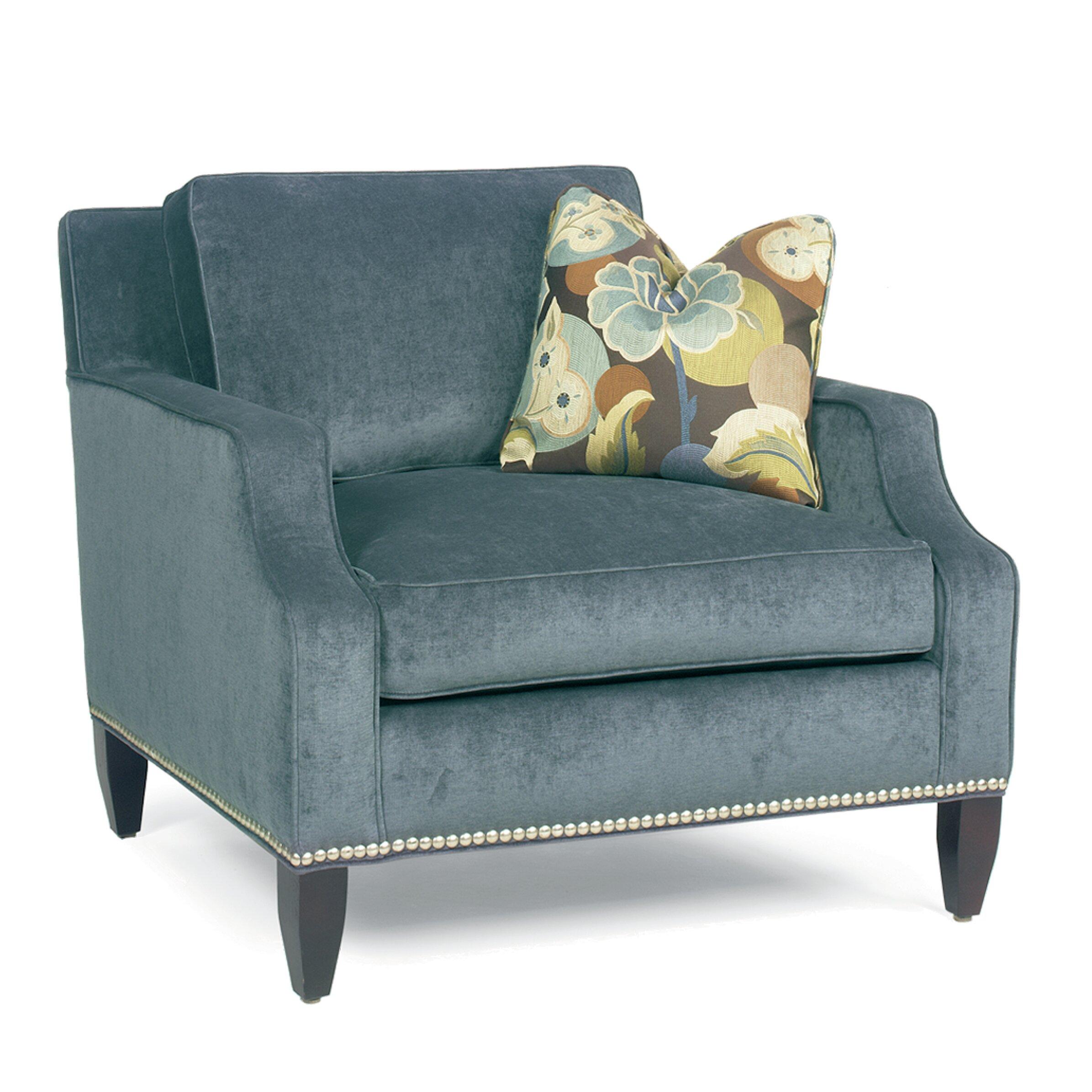 Wayfair Modern Pillow : Modern Notch Arm Loose Pillow Back Club Arm Chair Wayfair