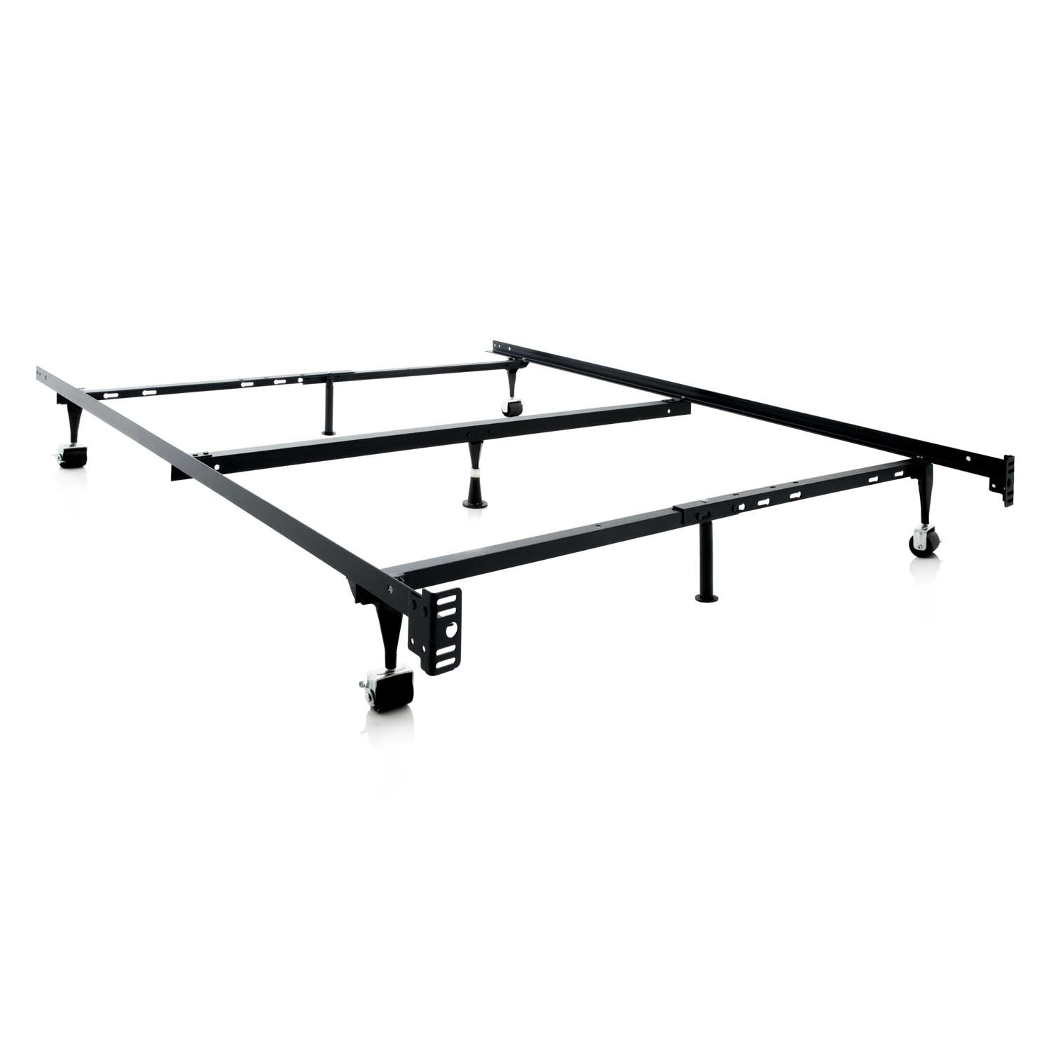 Malouf Heavy Duty 7 Leg Adjustable Metal Bed Frame With