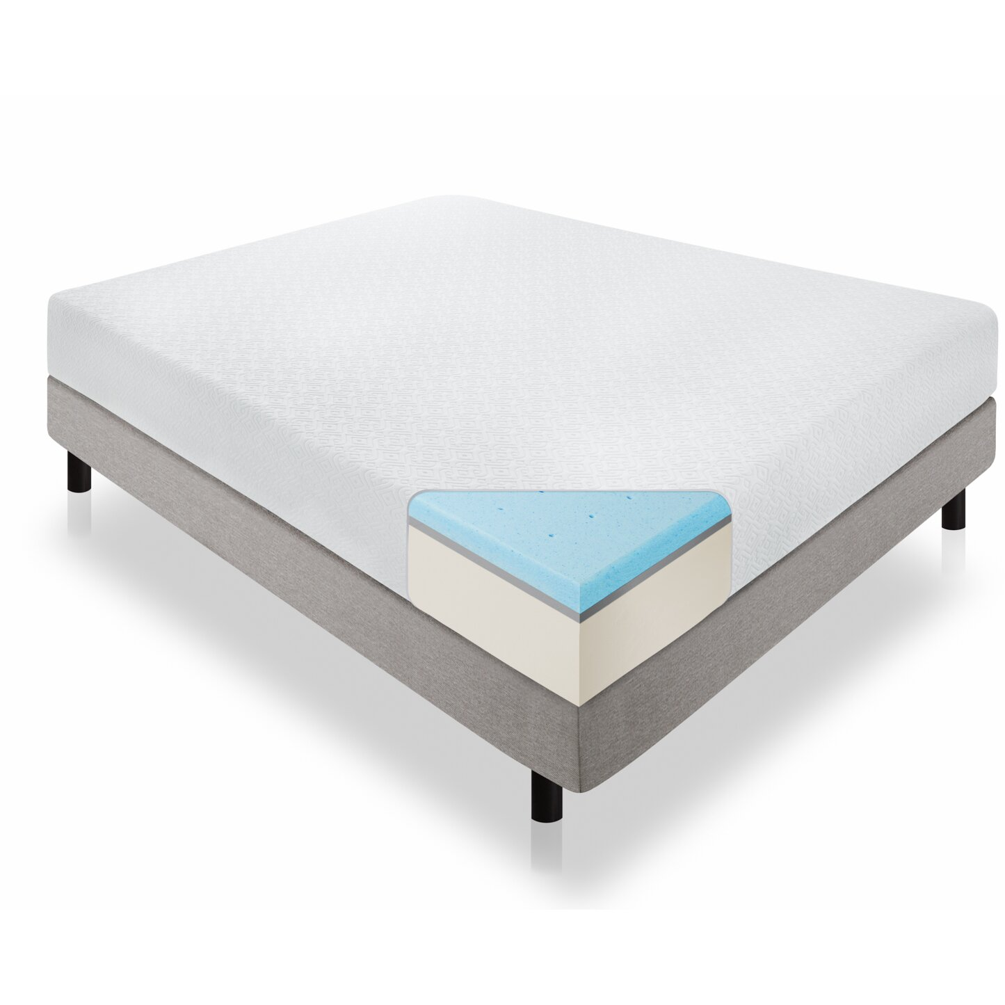 "Lucid 12"" Gel Memory Foam Plush Viscoelastic Mattress"
