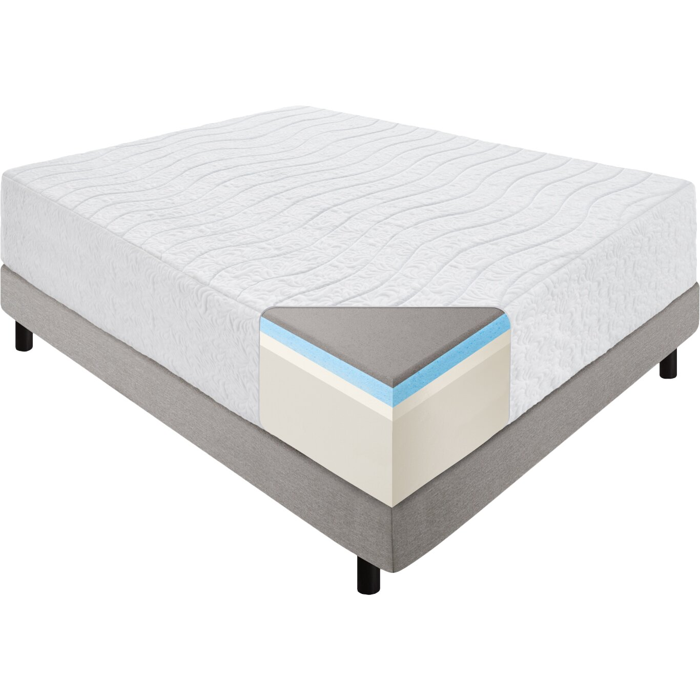 "16"" Latex and Memory Foam Mattress"