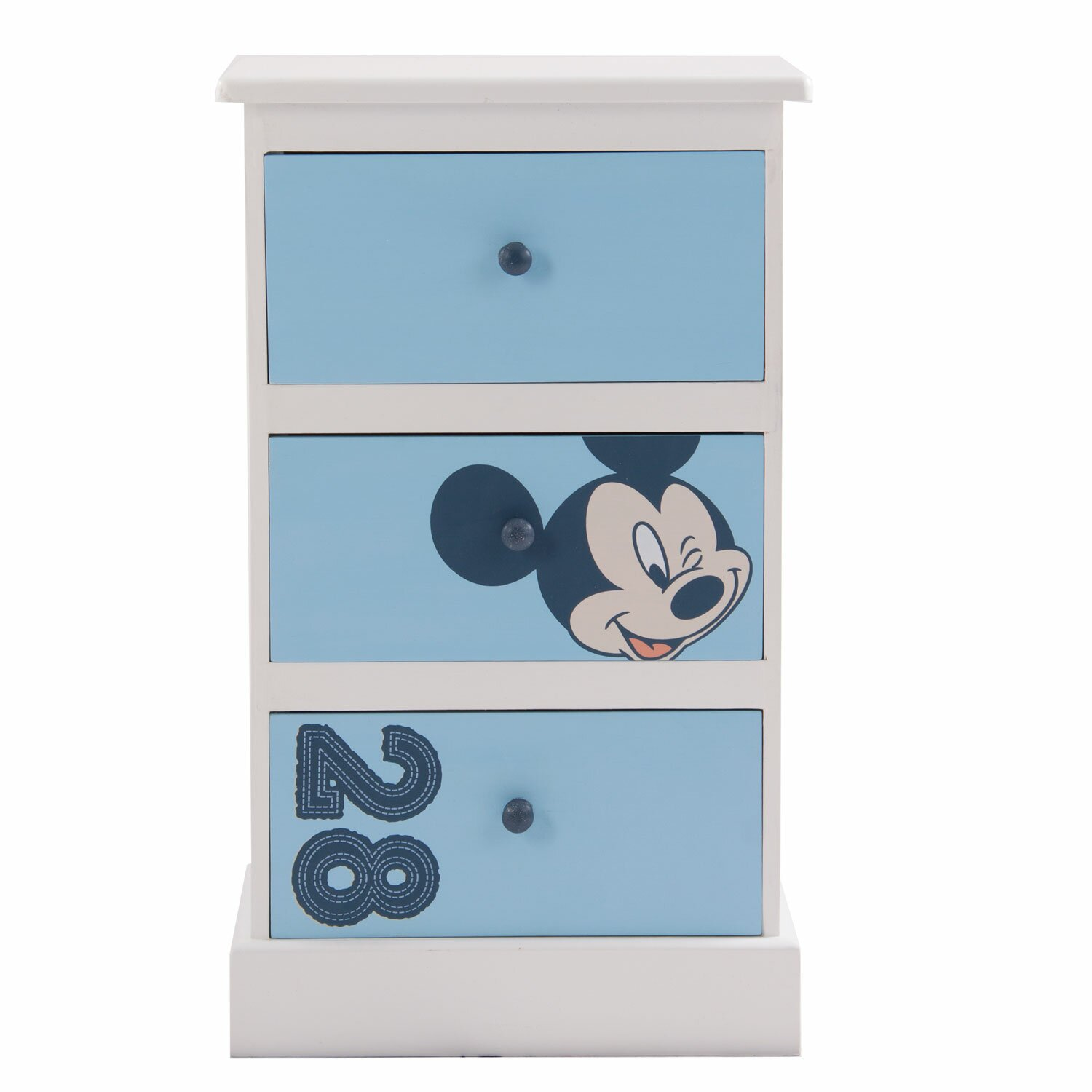 Mickey 3 Drawer Bedside Table Wayfair Uk