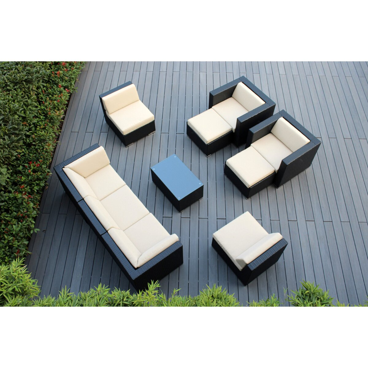 Ohana Depot 10 Piece Deep Seating Group With Cushions